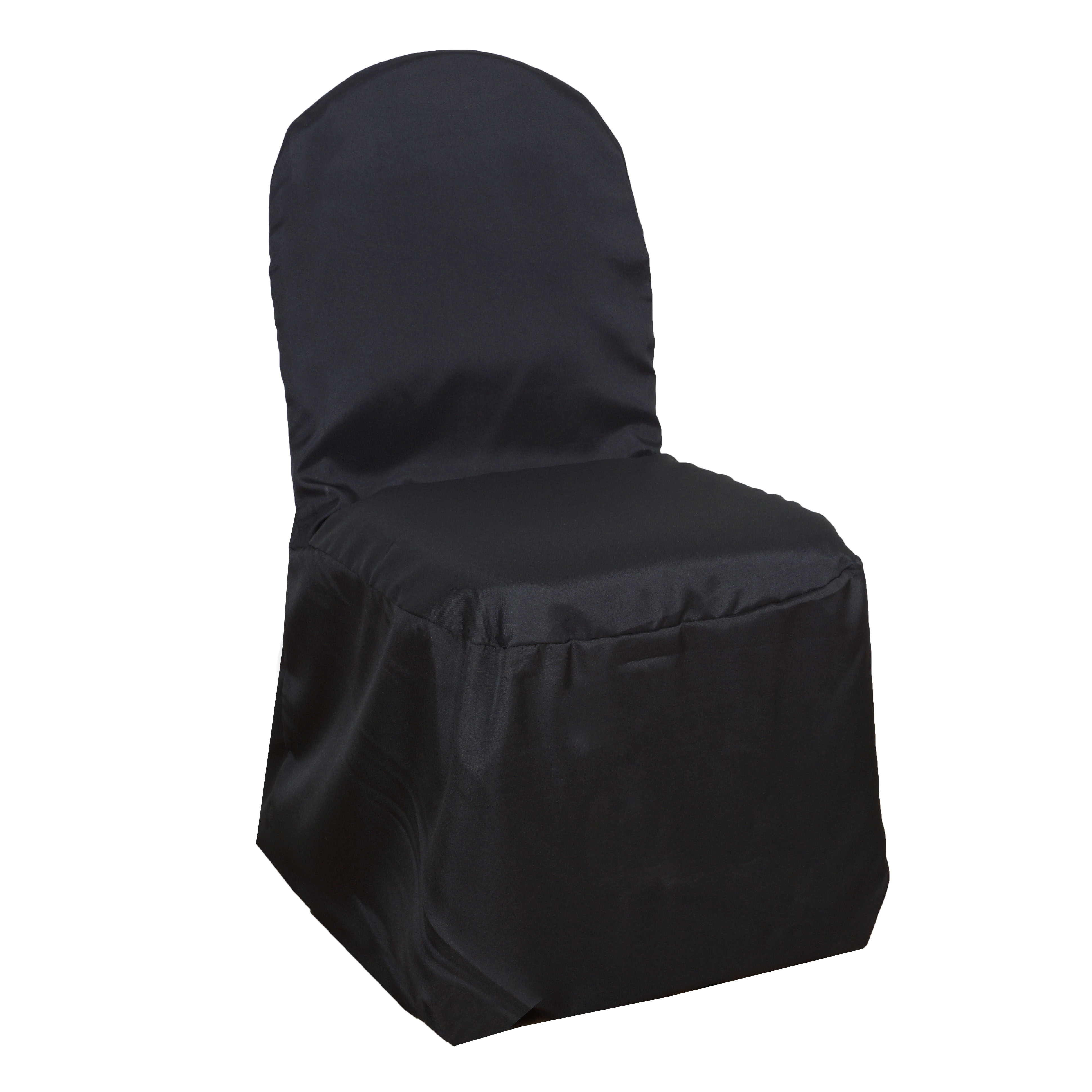 100 Black Polyester Banquet Chair Covers Wedding Ceremony Supplies Event Decor Ebay