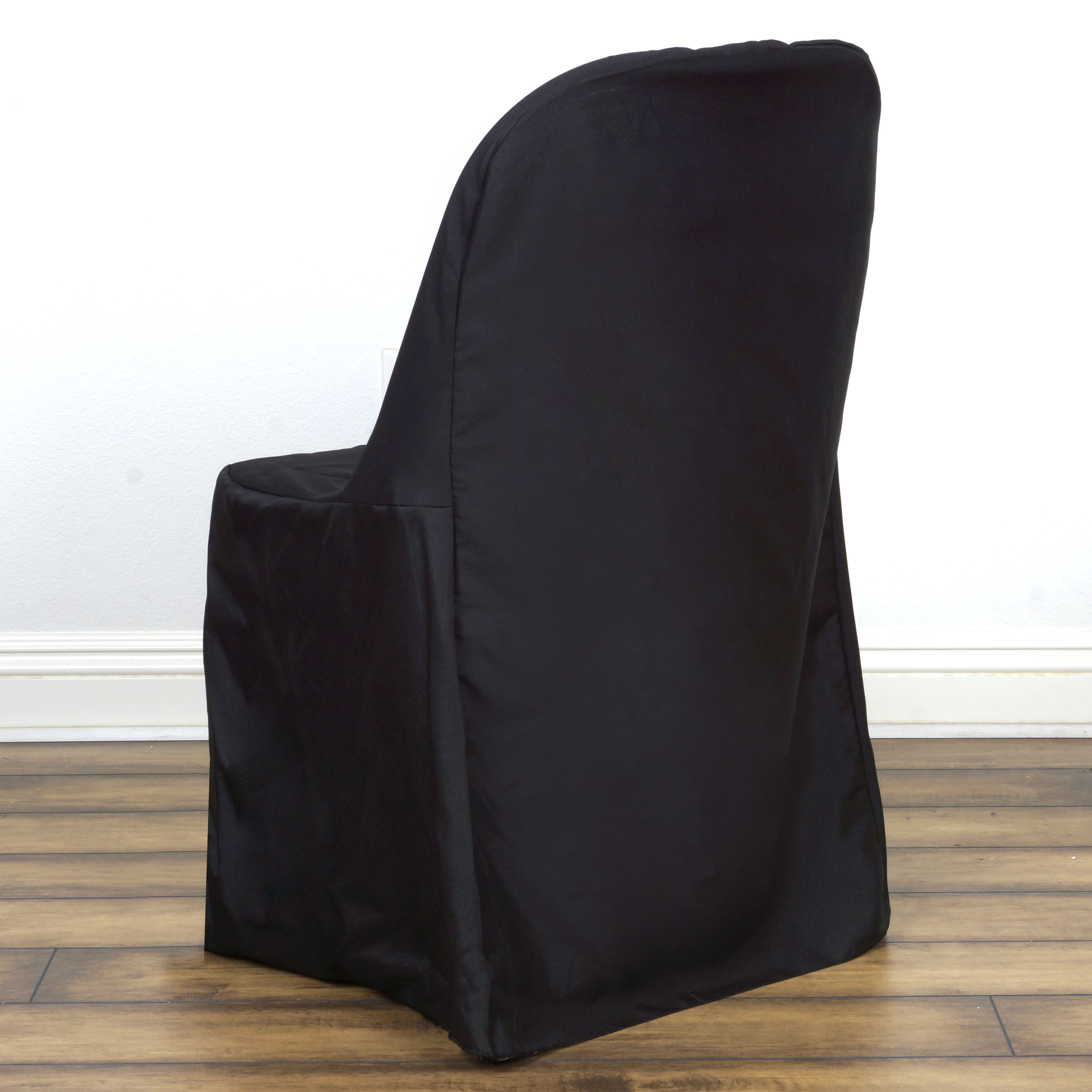 Polyester Folding Flat Banquet Chair Covers Wedding Party