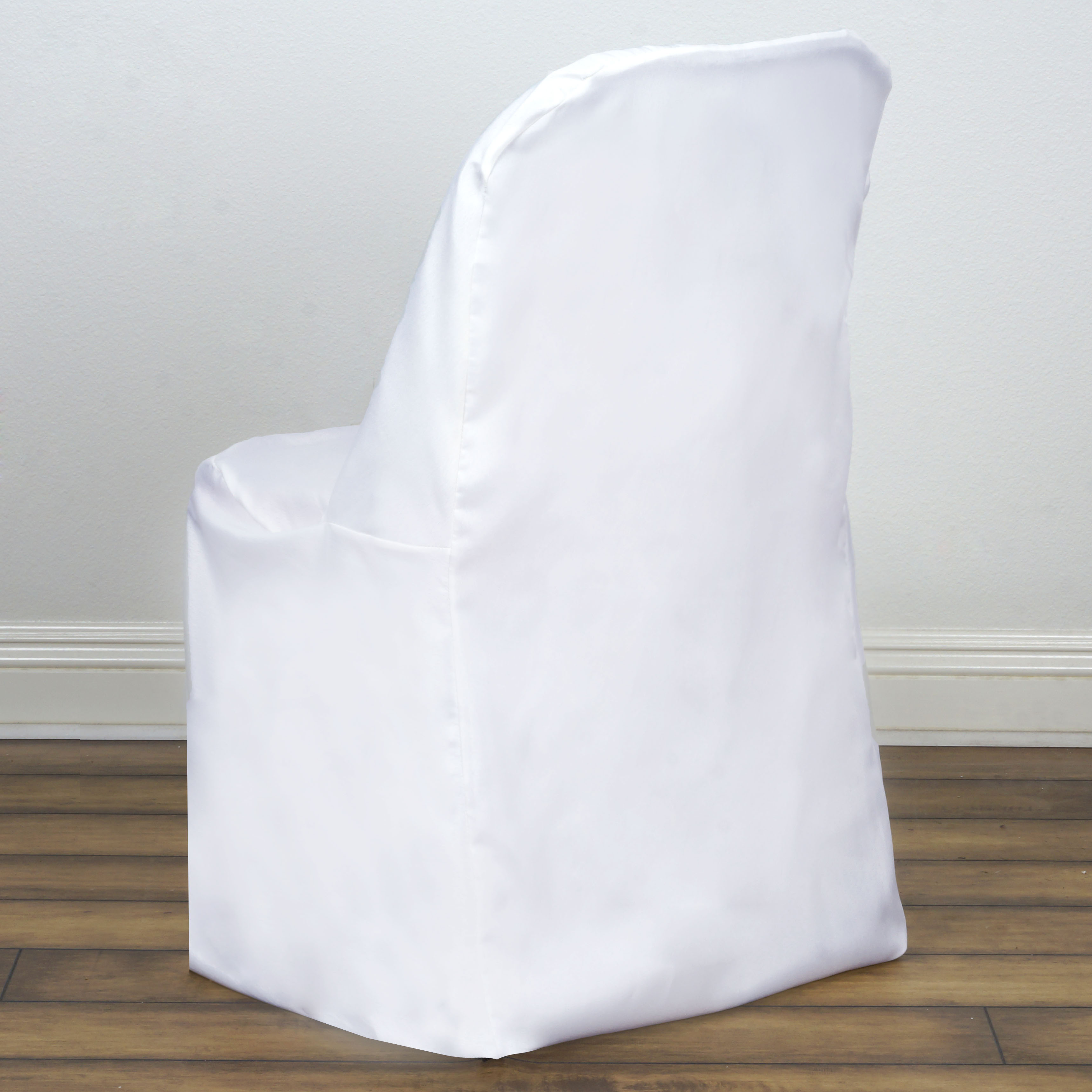 Polyester Folding Flat Banquet CHAIR COVERS Wedding Party Supplies ...