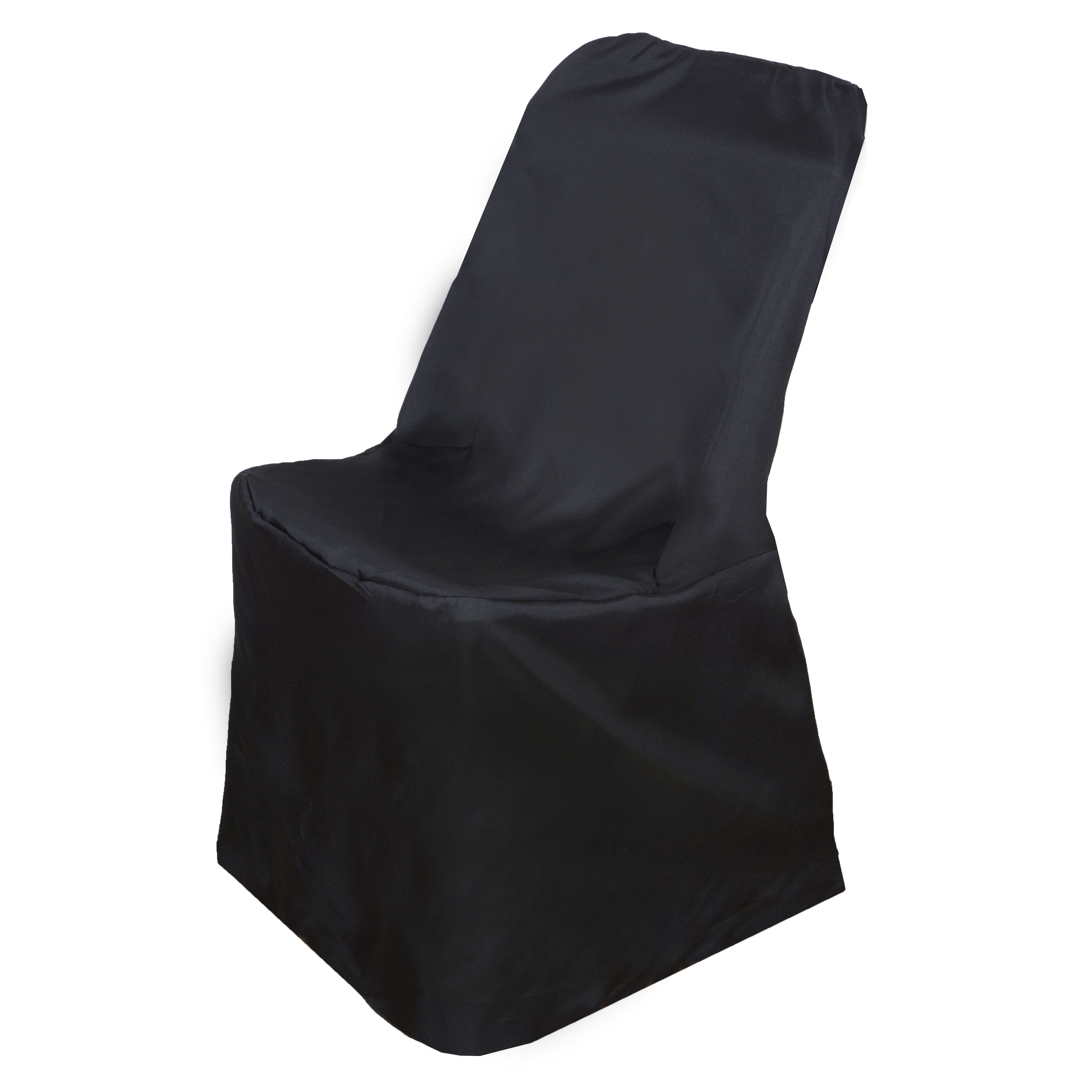 Folding chair covers wholesale under 1 - 1 Sample Lifetime Folding Chair Cover Polyester Wedding