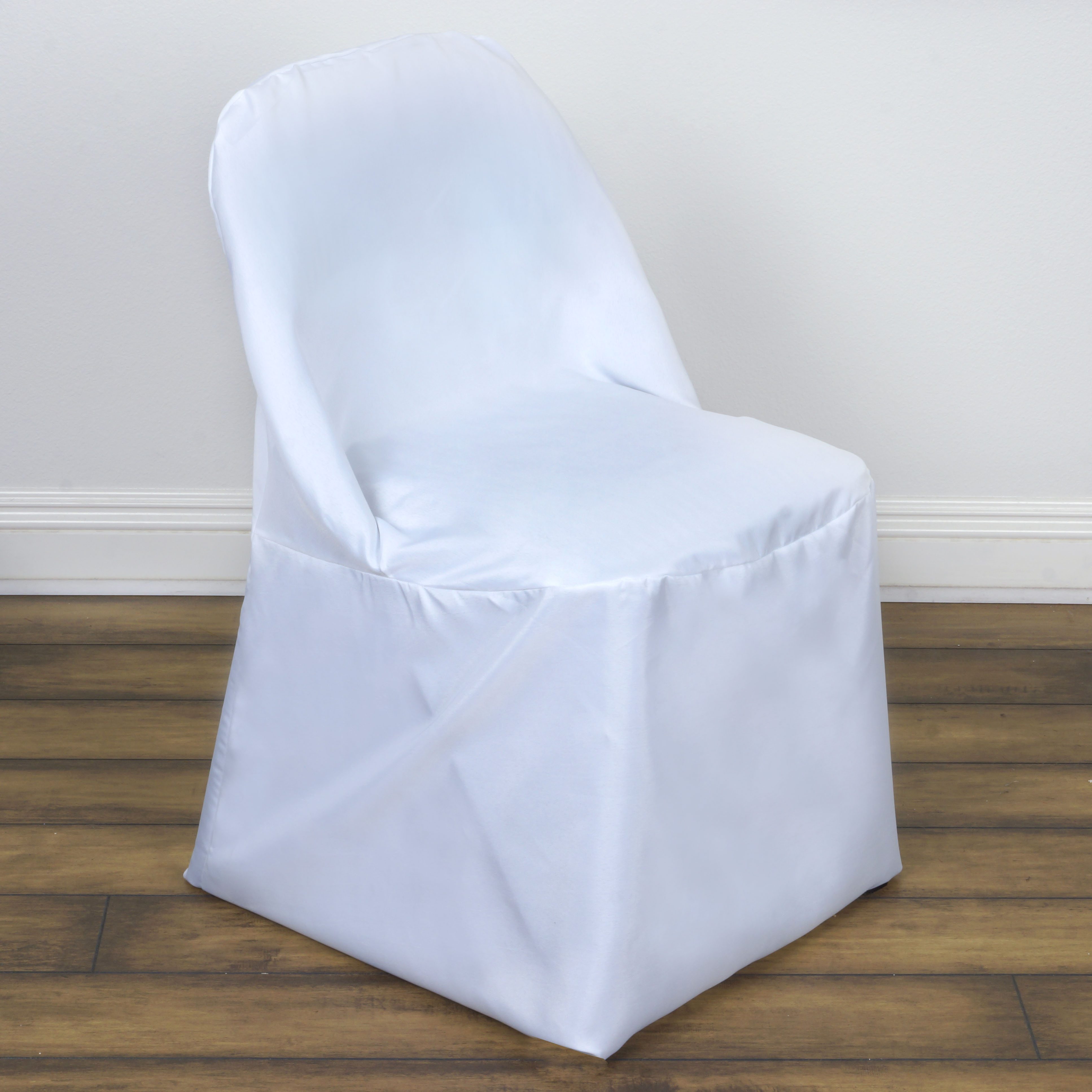 50 Folding Round Polyester Fabric Chair Covers Wedding