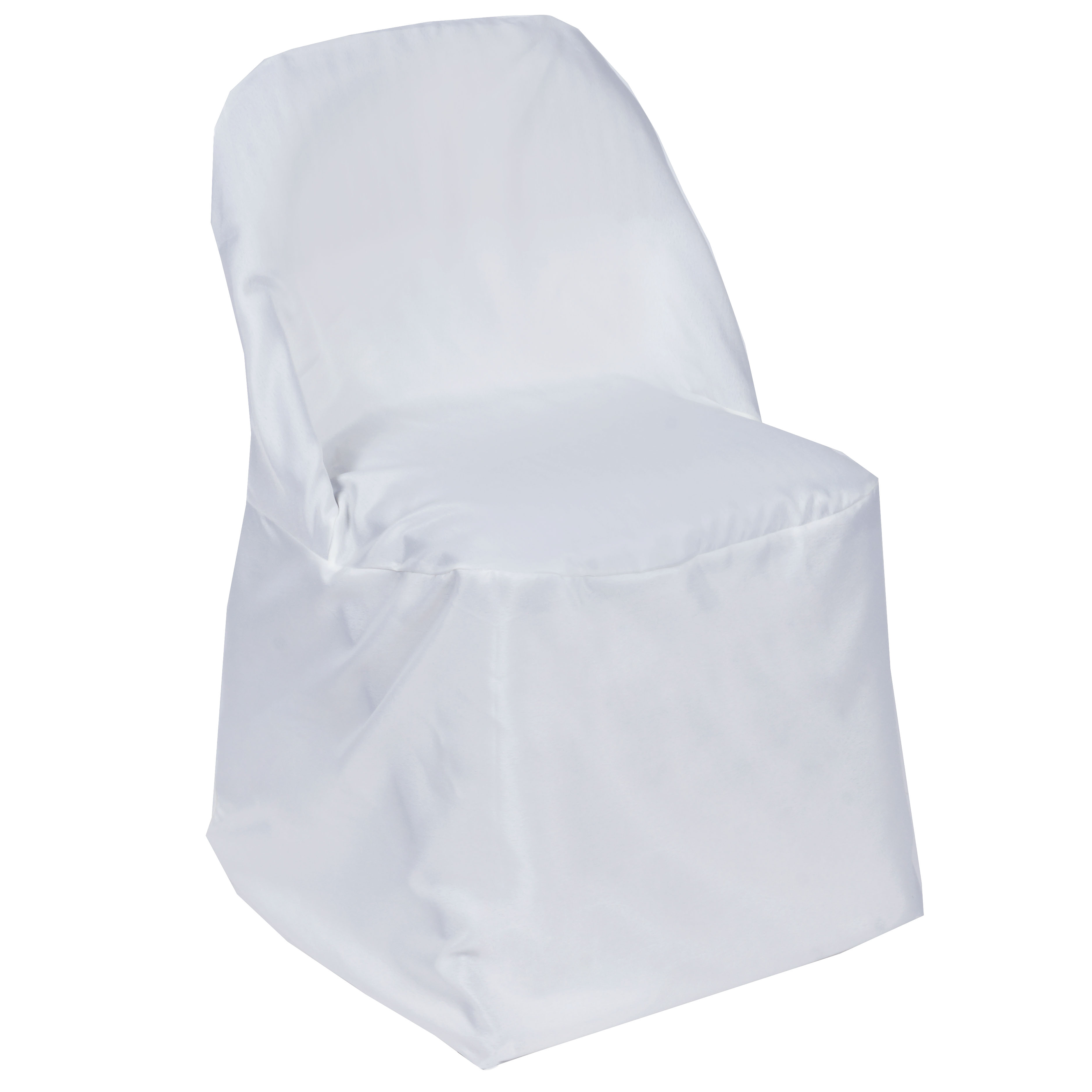 Folding chair covers wholesale under 1 - 1 Folding Round Polyester Fabric Chair Covers Wedding