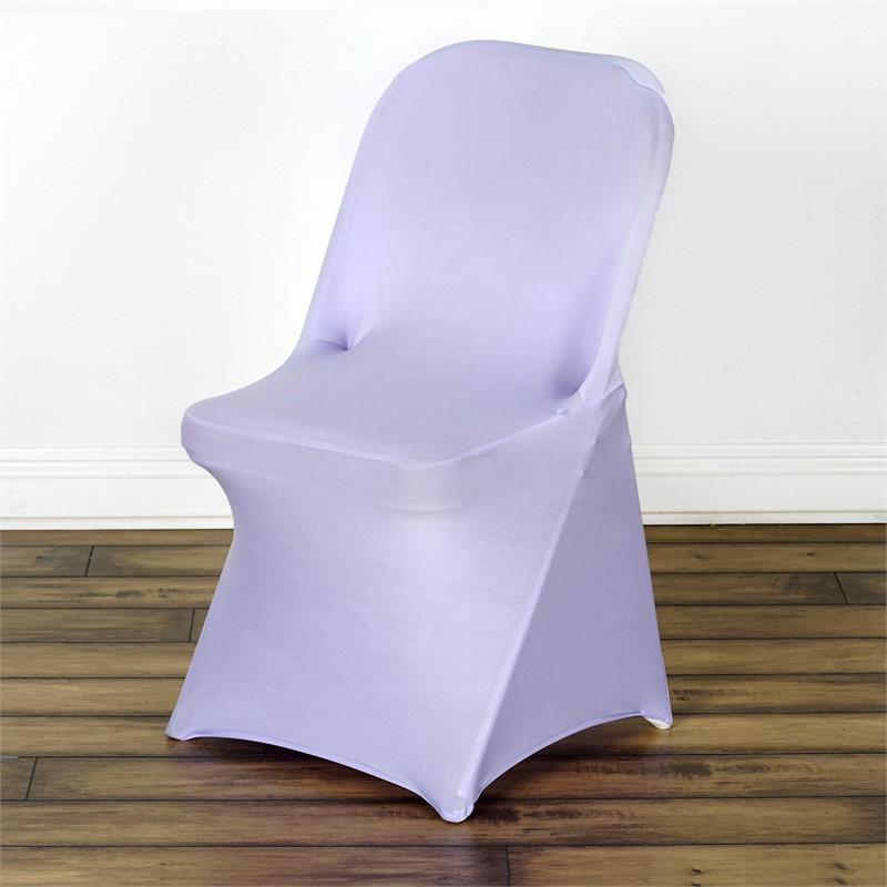 100 Pcs Spandex Fitted Folding Chair Covers For Wedding