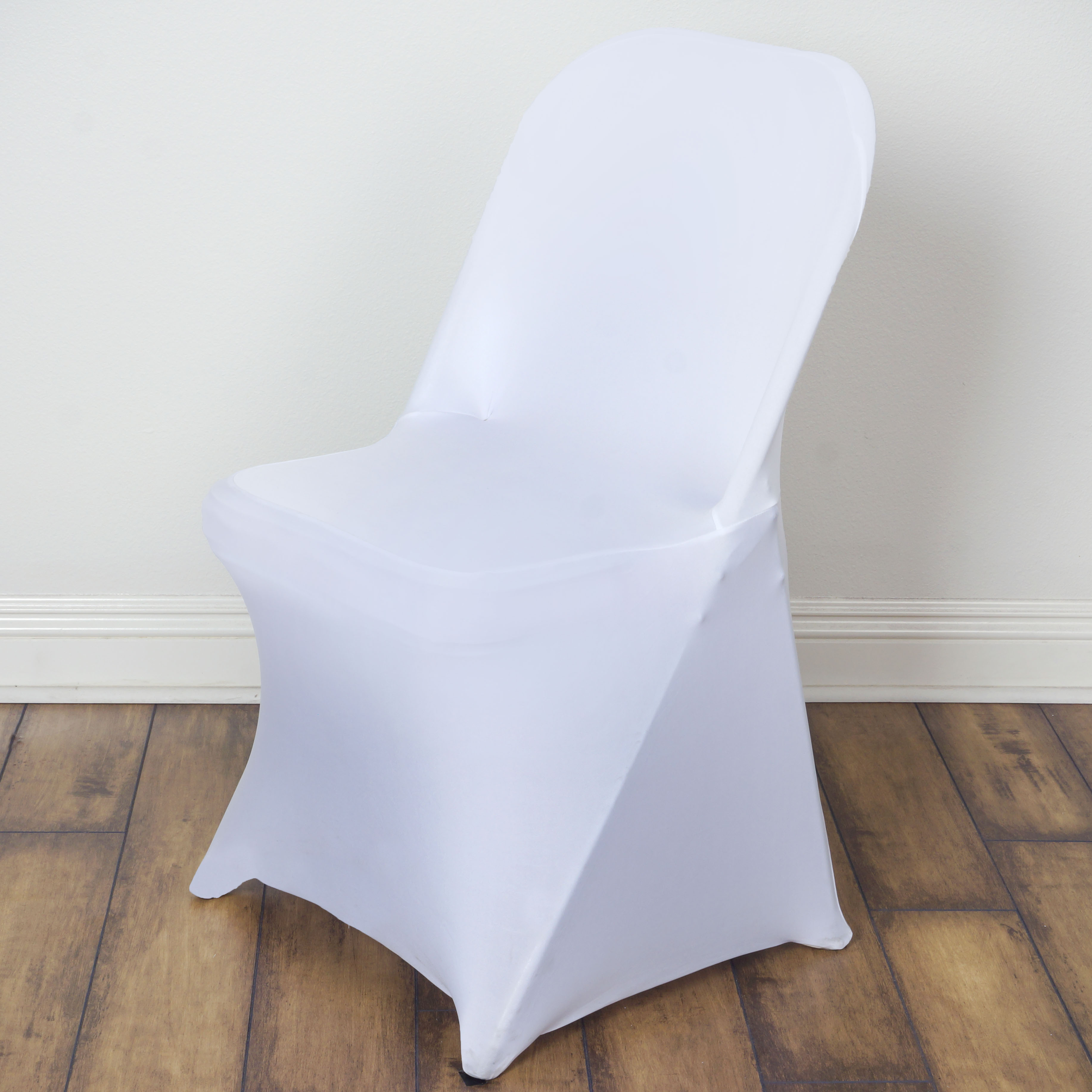 10 White Folding Stretch Spandex Chair Covers Event Banquet Party Decorations Ebay
