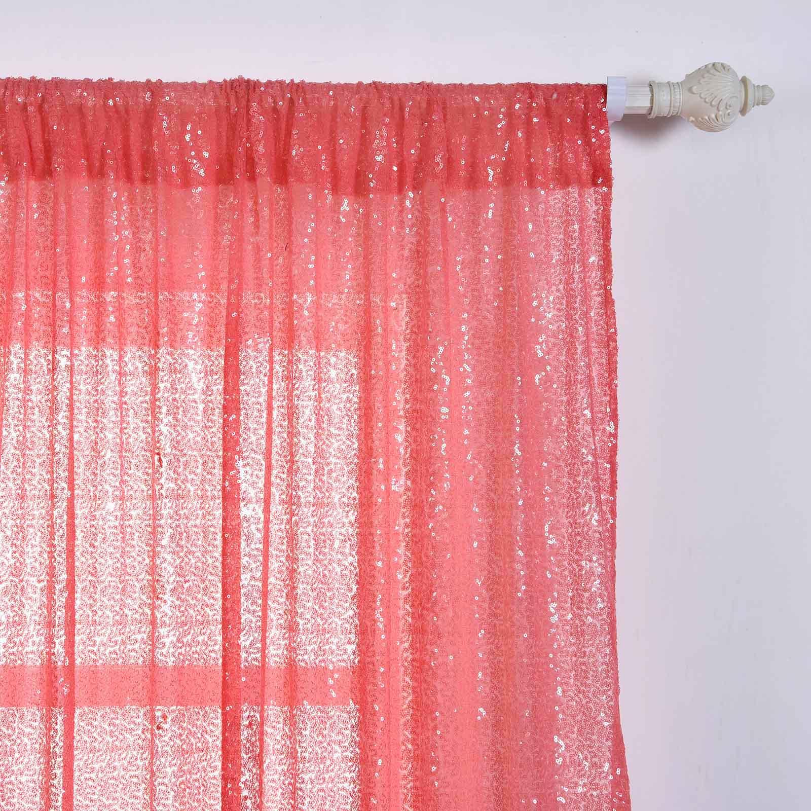 4-pcs-52-034-x-84-034-Sequined-Window-Curtains-Drapes-Panels-Backdrop-Home-Party-Decor thumbnail 21
