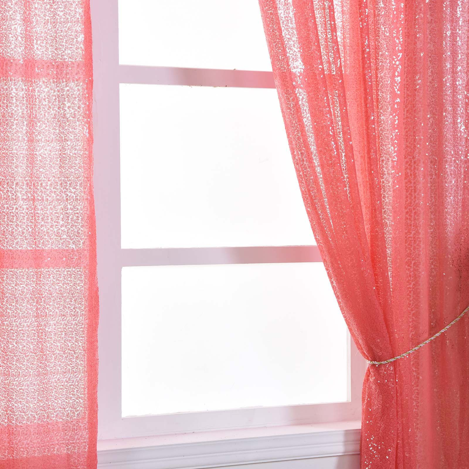 4-pcs-52-034-x-84-034-Sequined-Window-Curtains-Drapes-Panels-Backdrop-Home-Party-Decor thumbnail 23