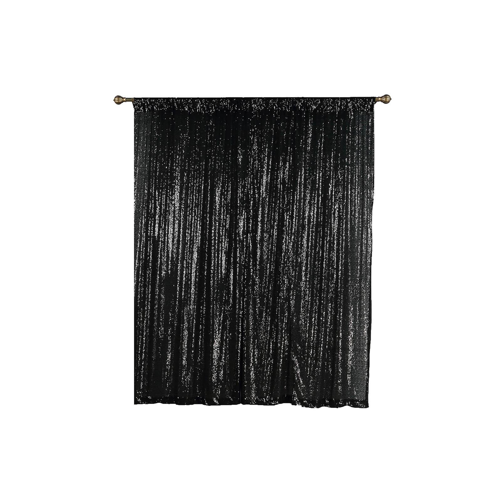 4-pcs-52-034-x-84-034-Sequined-Window-Curtains-Drapes-Panels-Backdrop-Home-Party-Decor thumbnail 4