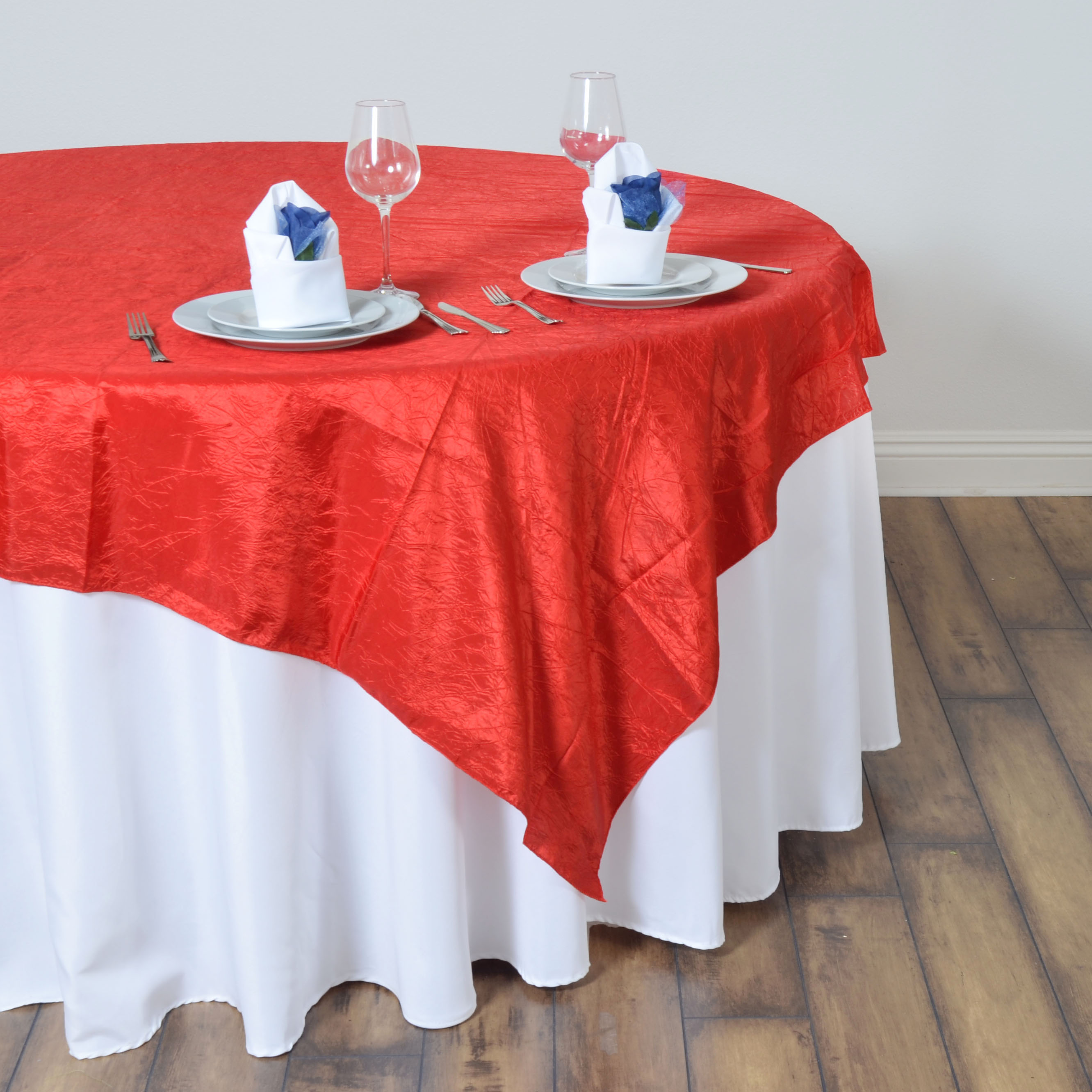 60x60 Quot Taffeta Crinkled Table Overlay Wedding Party