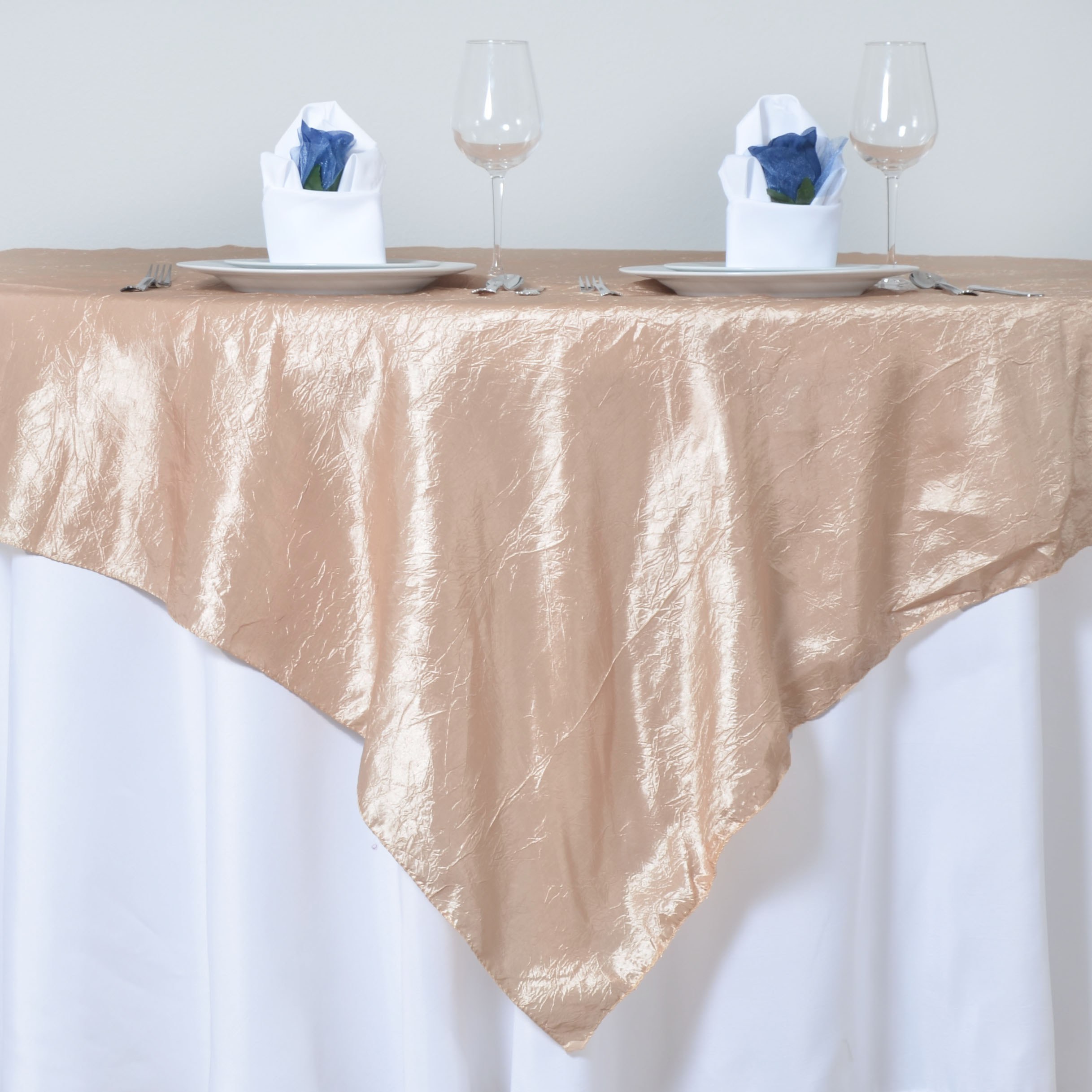 72x72quot taffeta crinkle overlays wedding table top