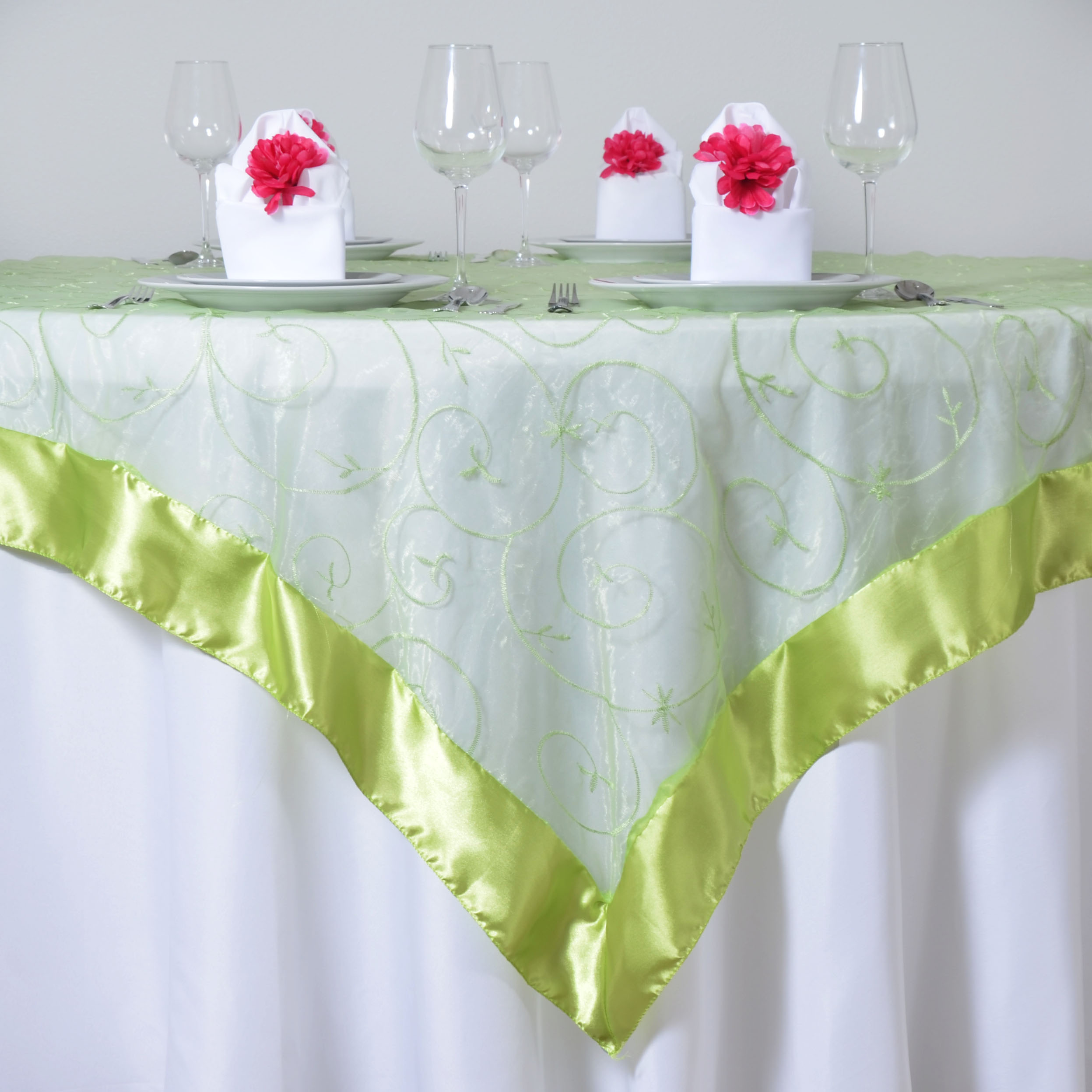 10 pcs 72x72 embroidered sheer organza table overlay wedding 10 pcs 72x72 034 embroidered sheer organza table junglespirit Images