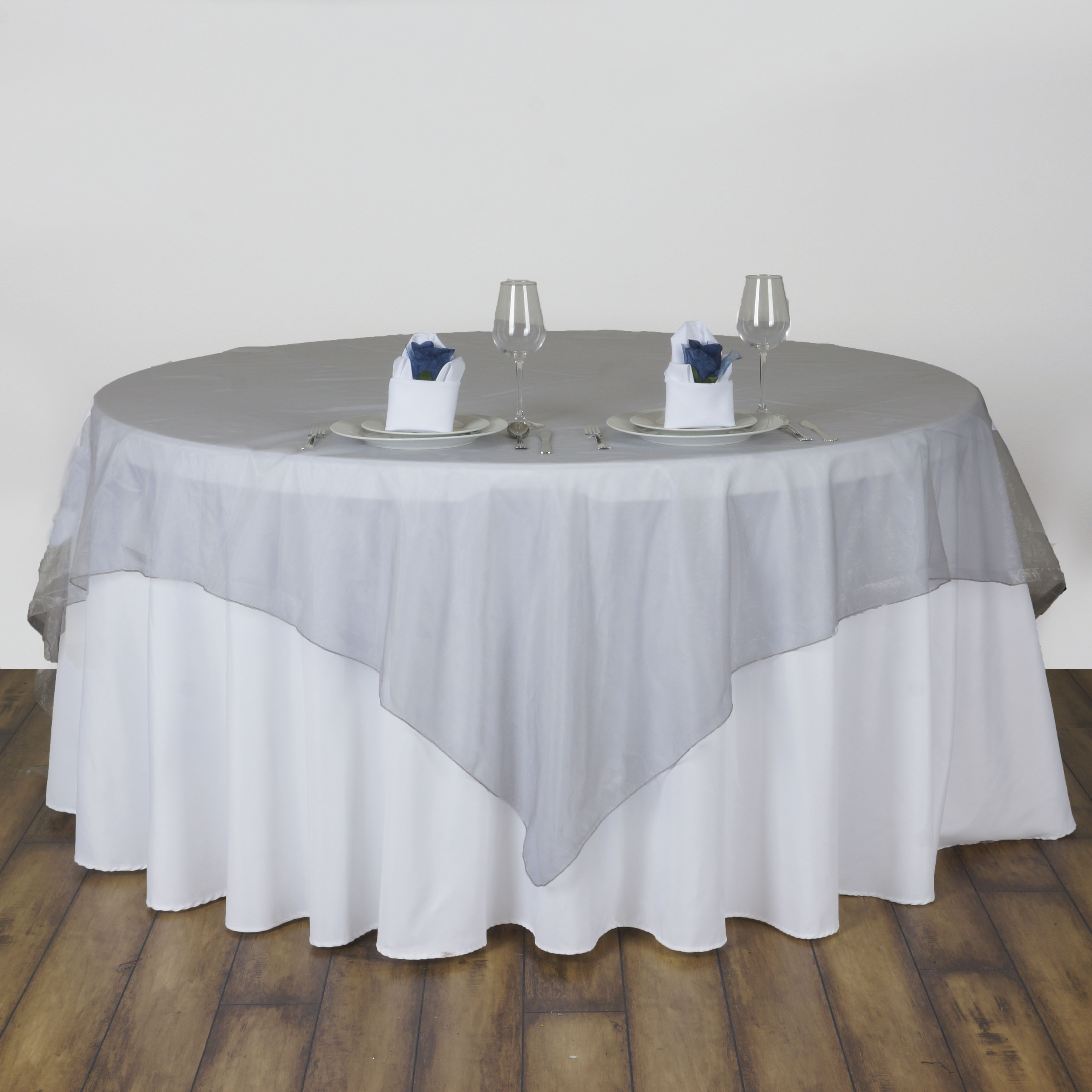 Square SHEER ORGANZA TABLE OVERLAYS Wedding Party Catering