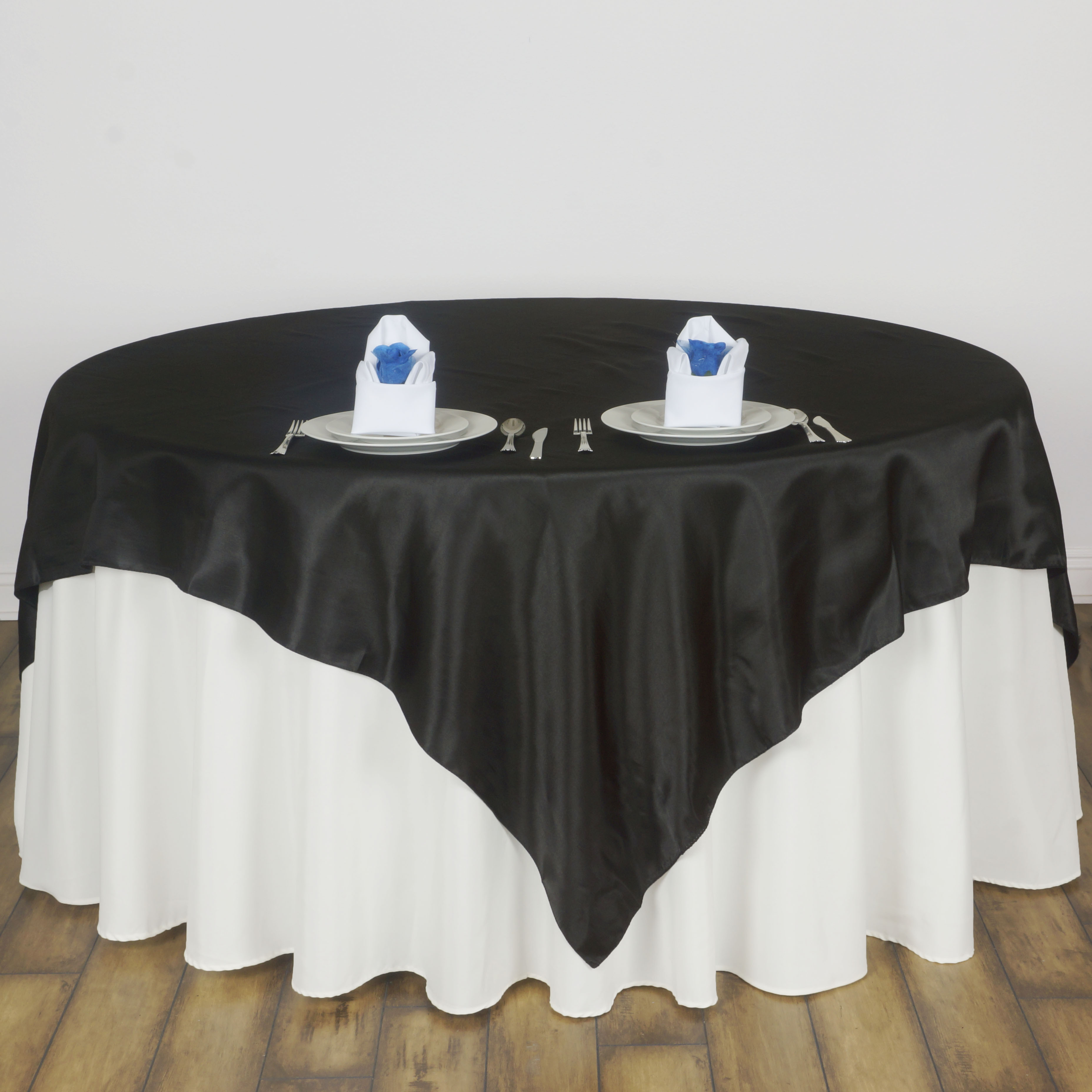 6 pack 72 square satin table overlays wedding table linens 6 pack 72 034 square satin table overlays junglespirit Choice Image