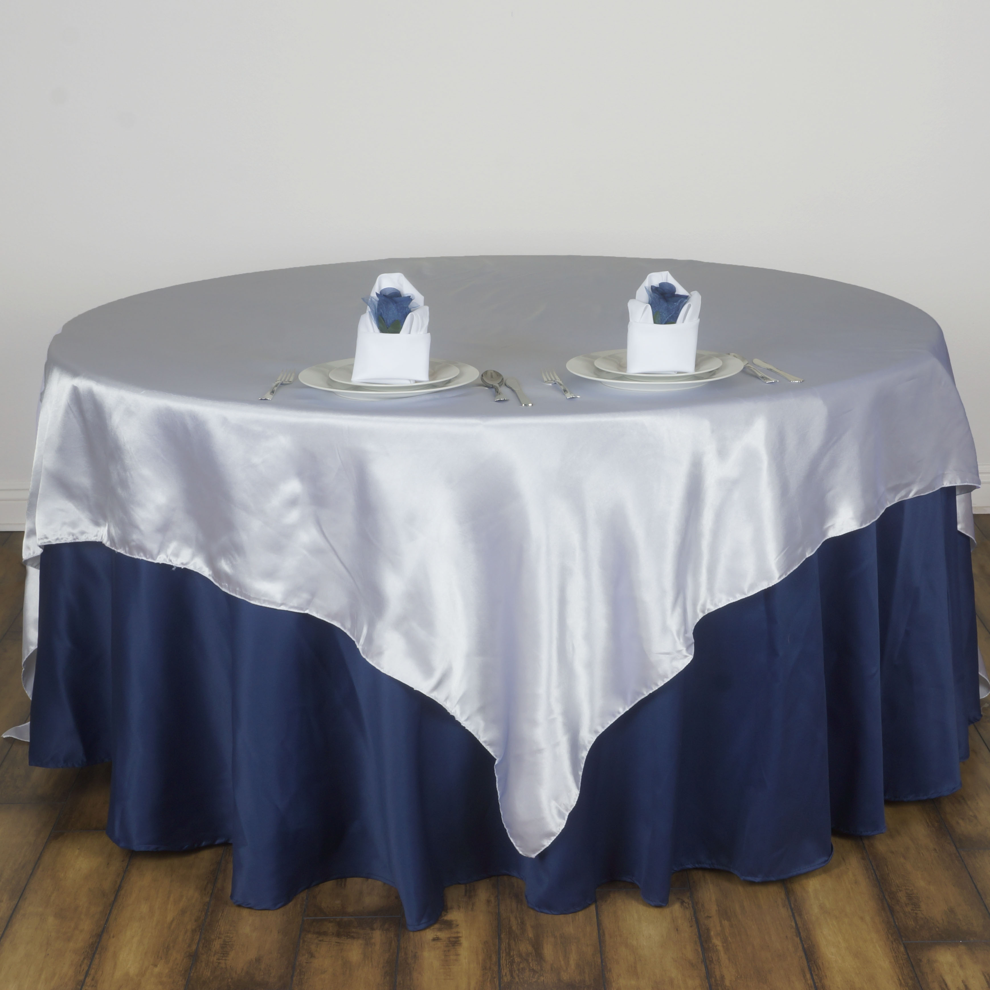 15 Pcs 72x72 034 Square SATIN Table Overlays