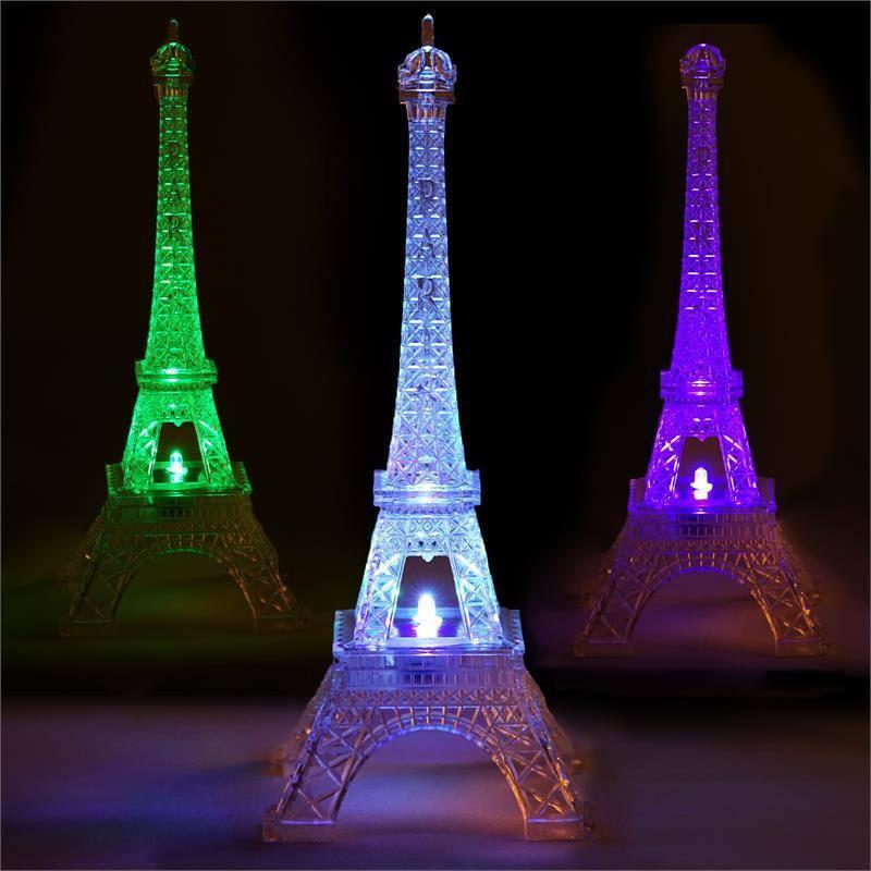 10 Light Changing Led Acrylic Eiffel Tower Wedding Party
