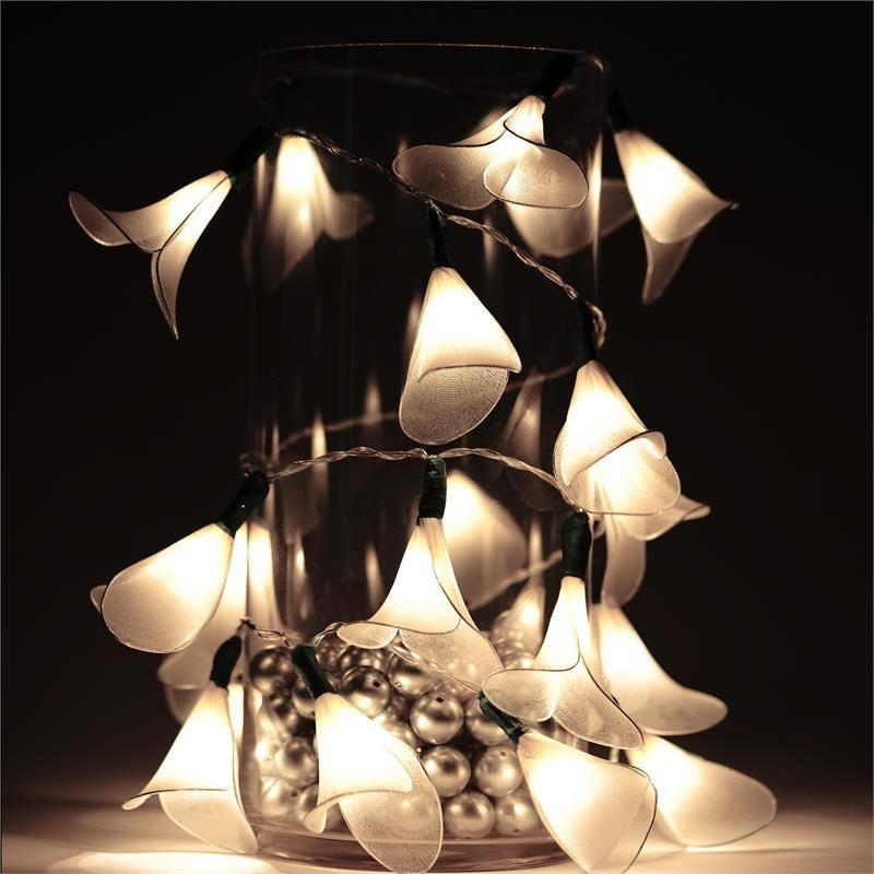 White 72 Long Calla Lily Fairy Lights Wedding Party Centerpieces
