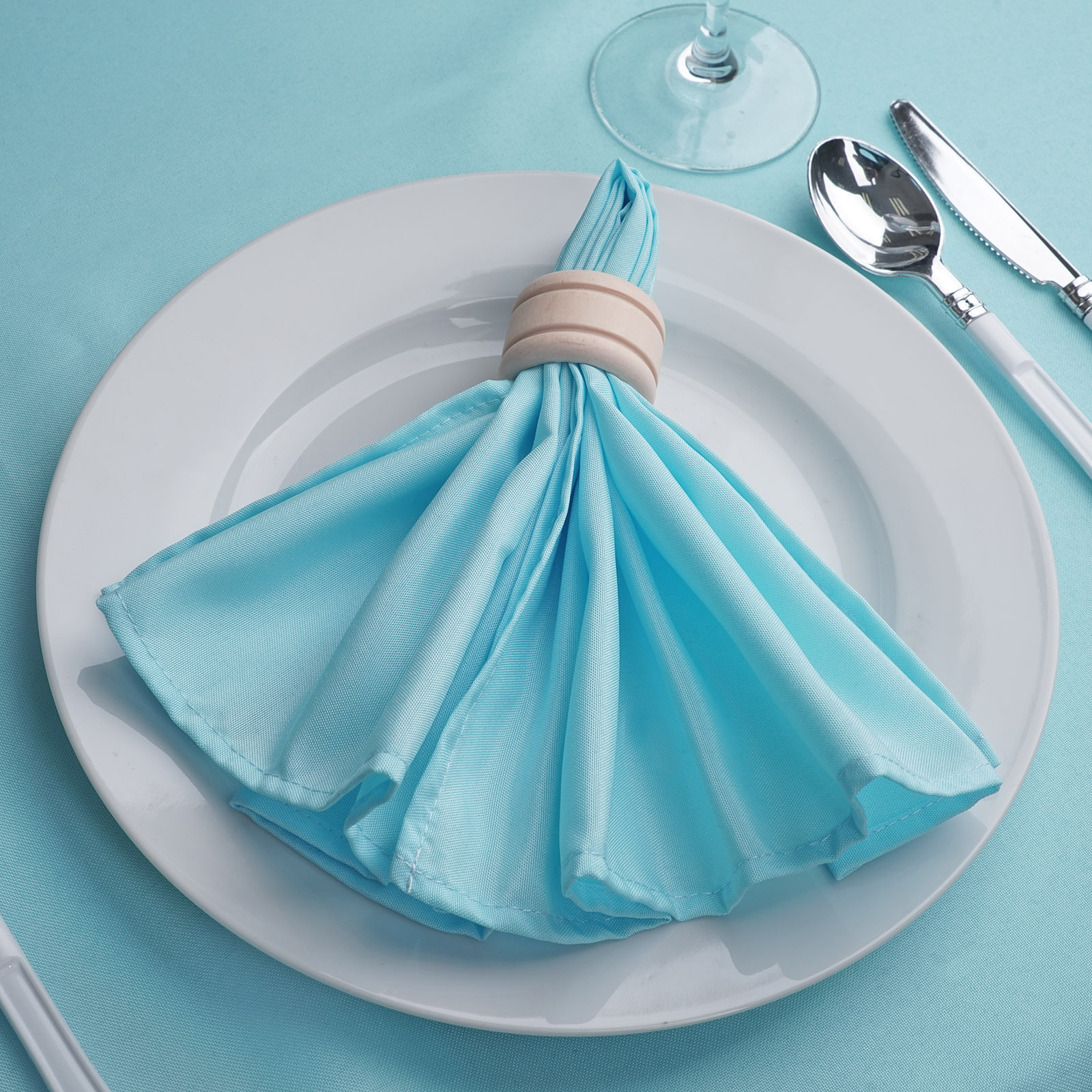 100 pcs 18X18 Polyester Napkins Wedding Party Table Decorations Supply Royal Blue 150