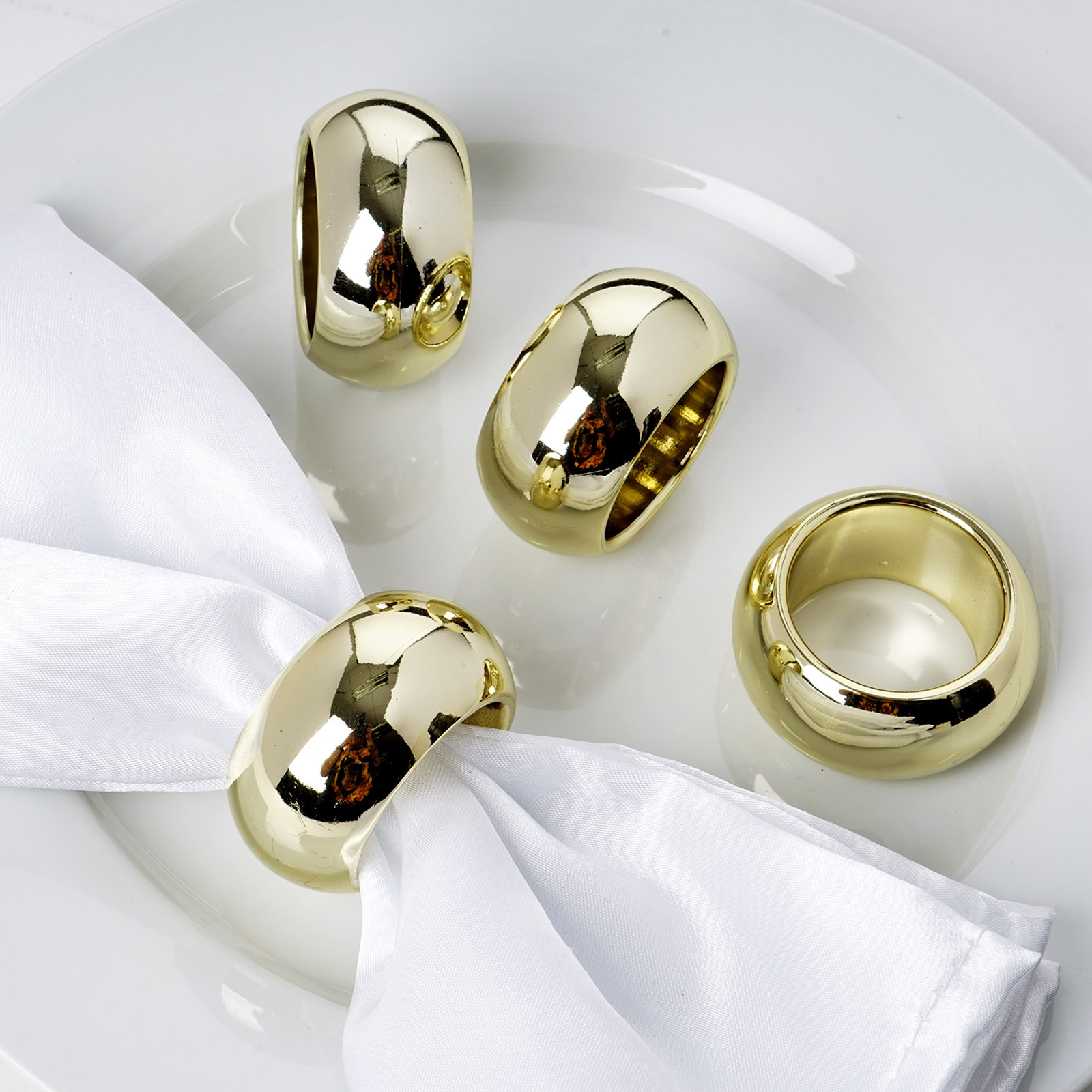 12 Pcs Gold Napkin Rings Wedding Catering Party Banquet Dinner Decorations Sale Ebay