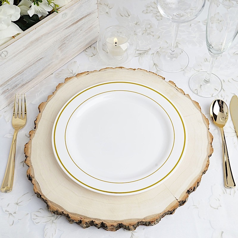 9-034-PLASTIC-PLATES-Round-TRIM-Party-Wedding-  sc 1 st  eBay & 9