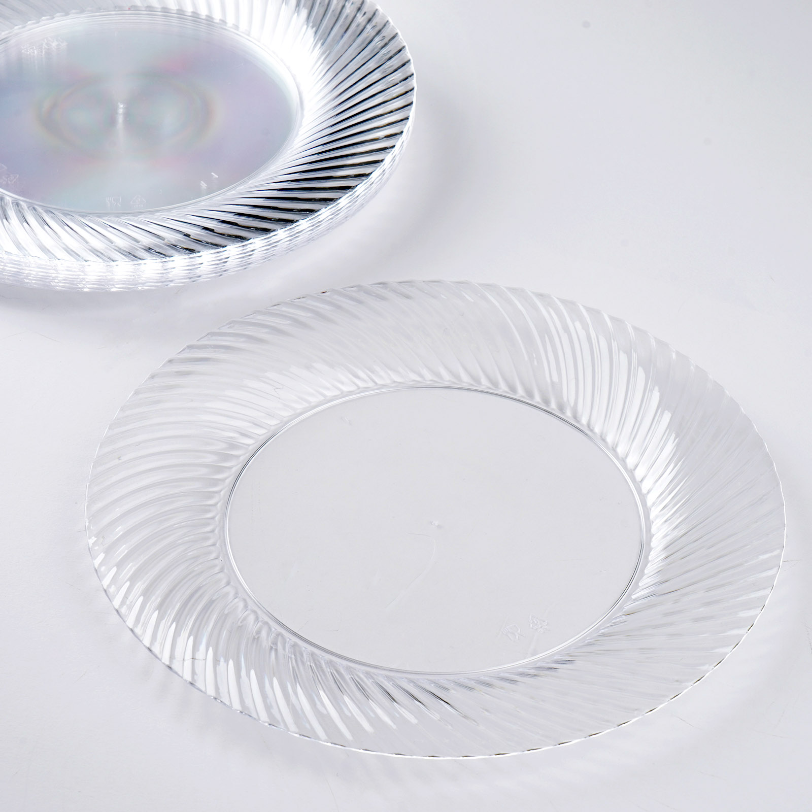 Plastic-7-034-ROUND-PLATES-with-Twirl-Party- & Plastic 7\
