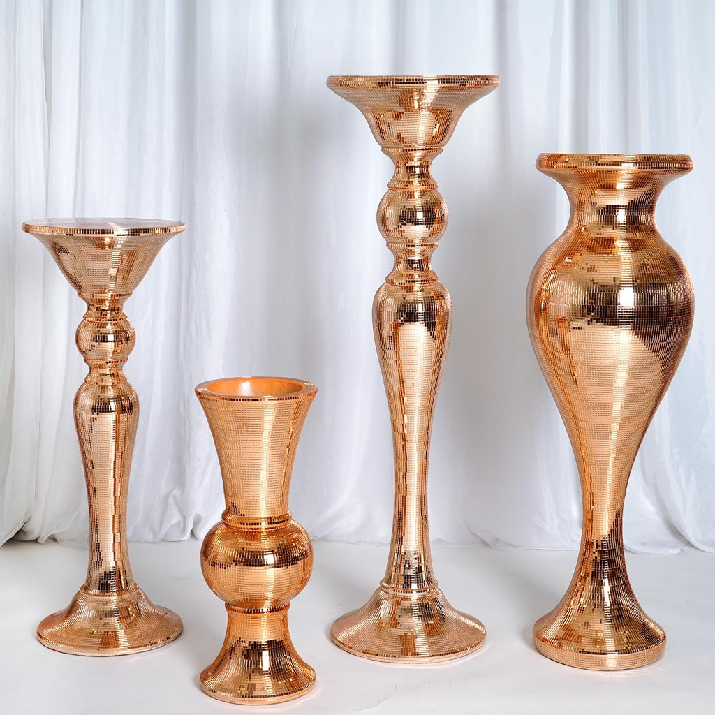Mirror mosaic wedding vases 24 tall centerpieces party mirror mosaic wedding vases 24 034 tall centerpieces floridaeventfo Image collections