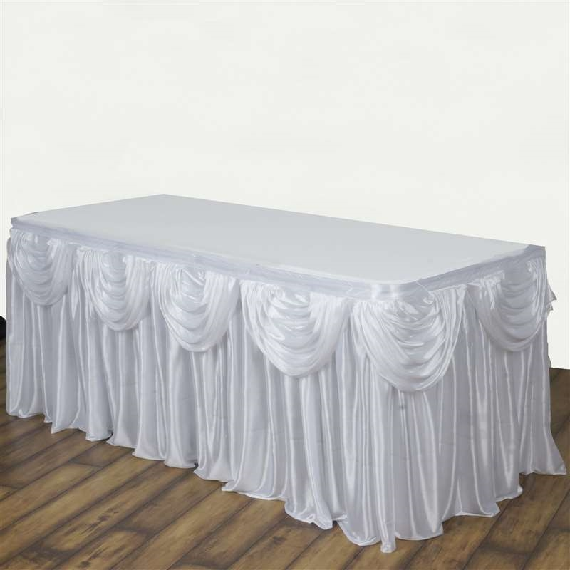 14 feet x 29 satin classic drape table skirt wedding party catering 14 feet x 29 034 satin classic drape junglespirit