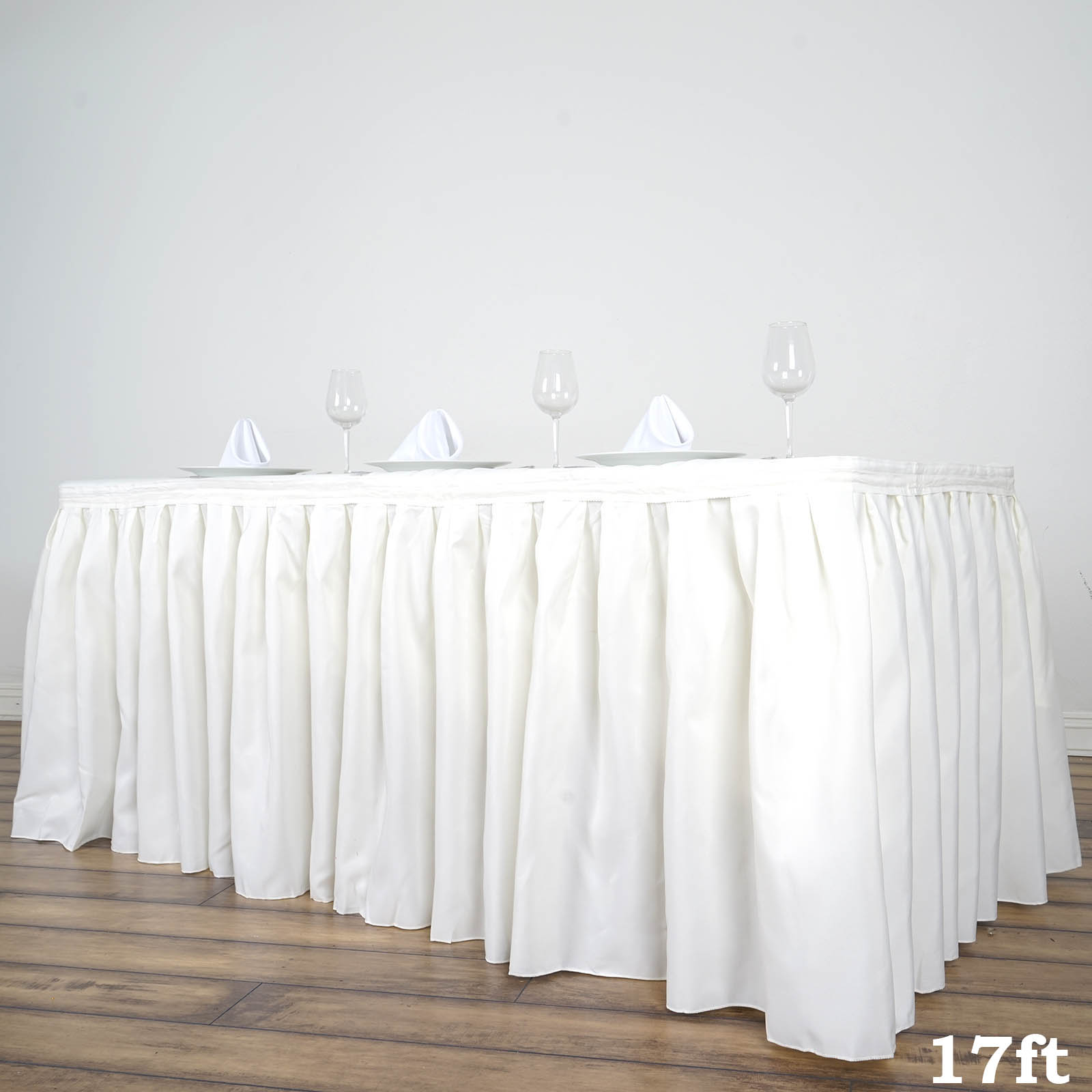 17 Feet X 29 Polyester Banquet Table Skirt Wedding Party Linens