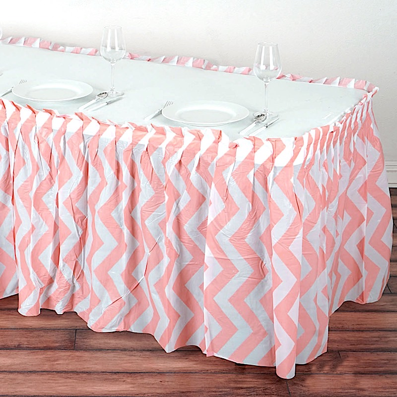 how to make a plastic table skirt