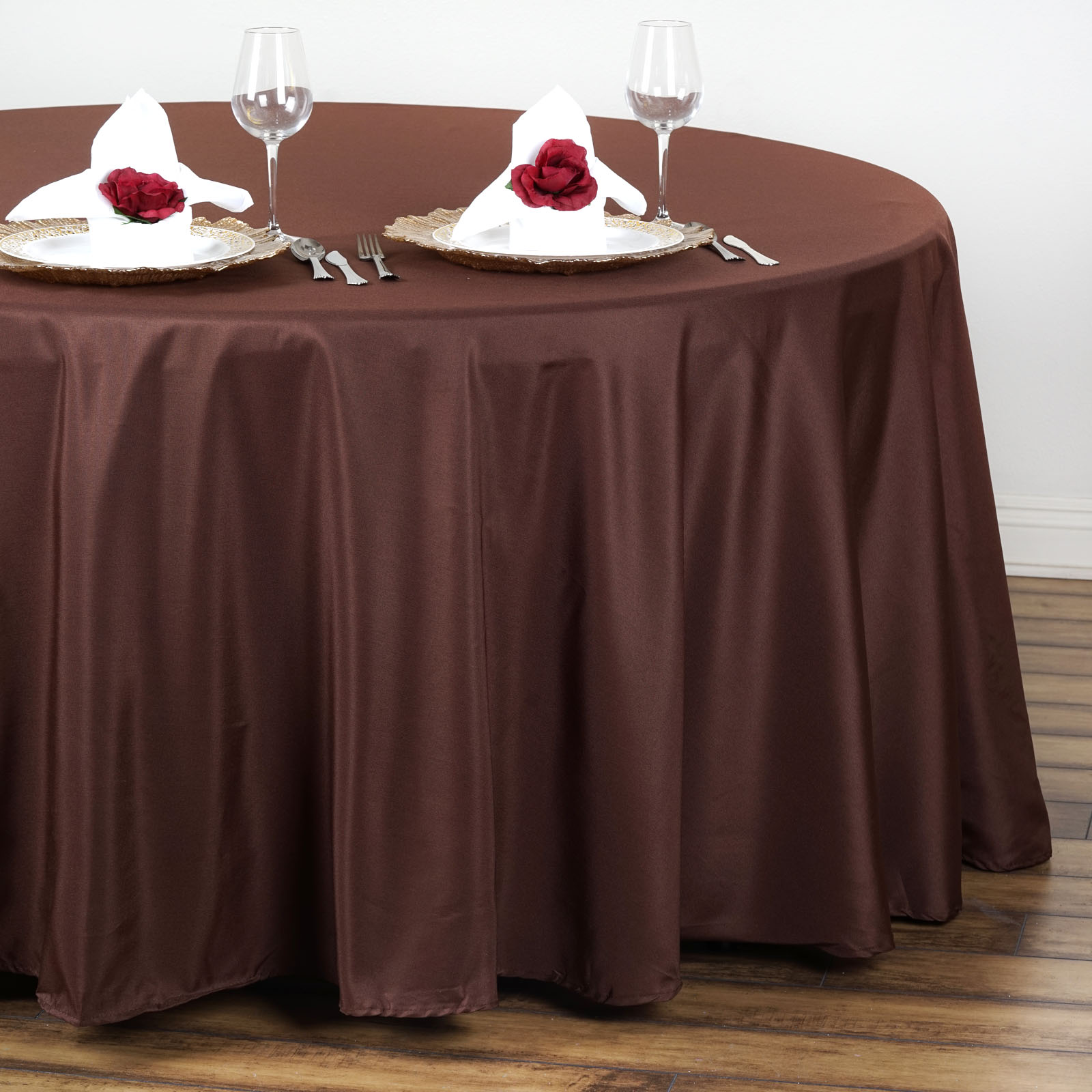 "108"" Round Polyester Tablecloth Wedding Table Linens ..."