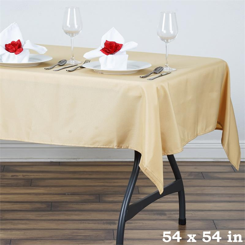 54 x 54 square polyester tablecloth wedding table linens for catering sale ebay. Black Bedroom Furniture Sets. Home Design Ideas