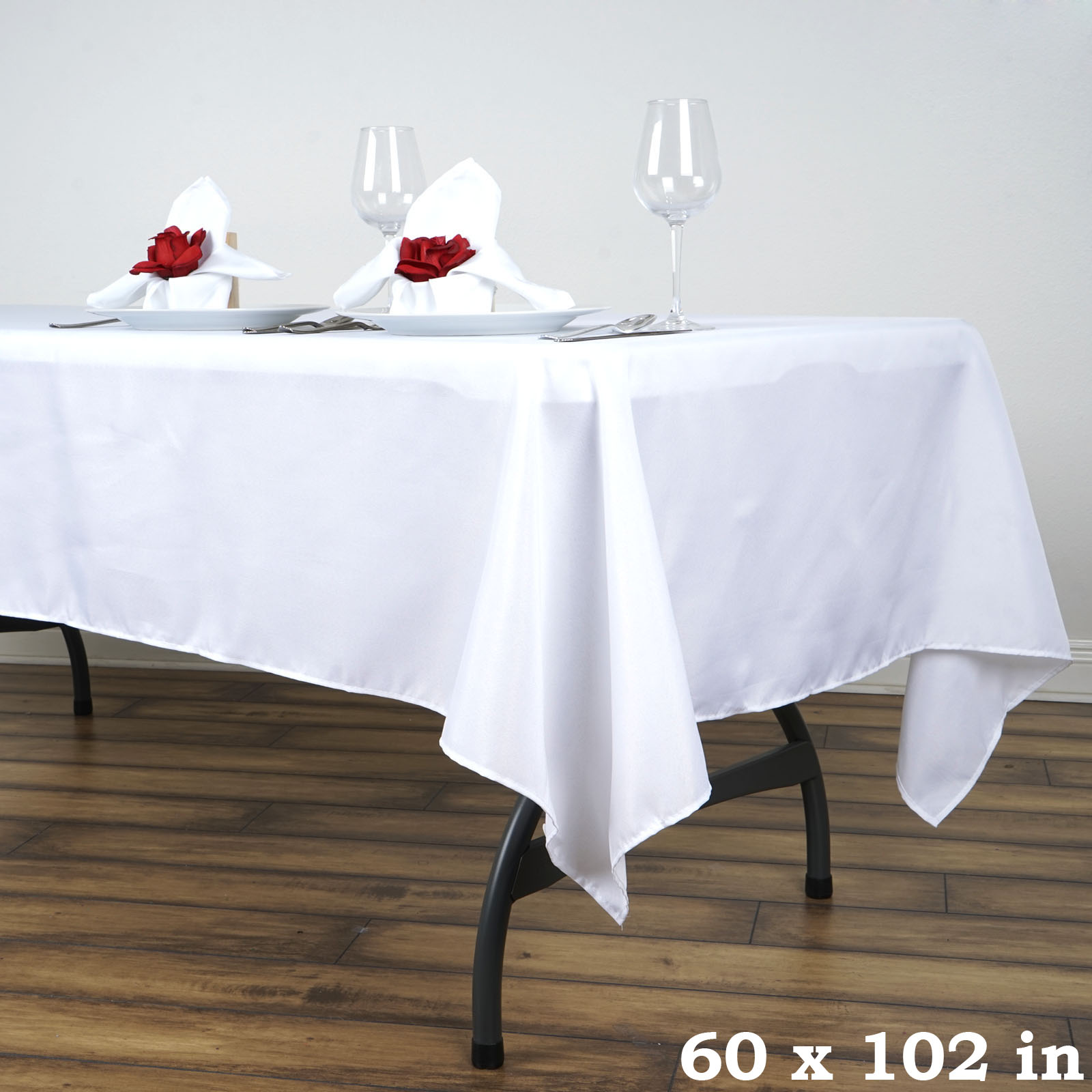 60x102 034 Polyester Rectangular Tablecloth Wedding Catering Table