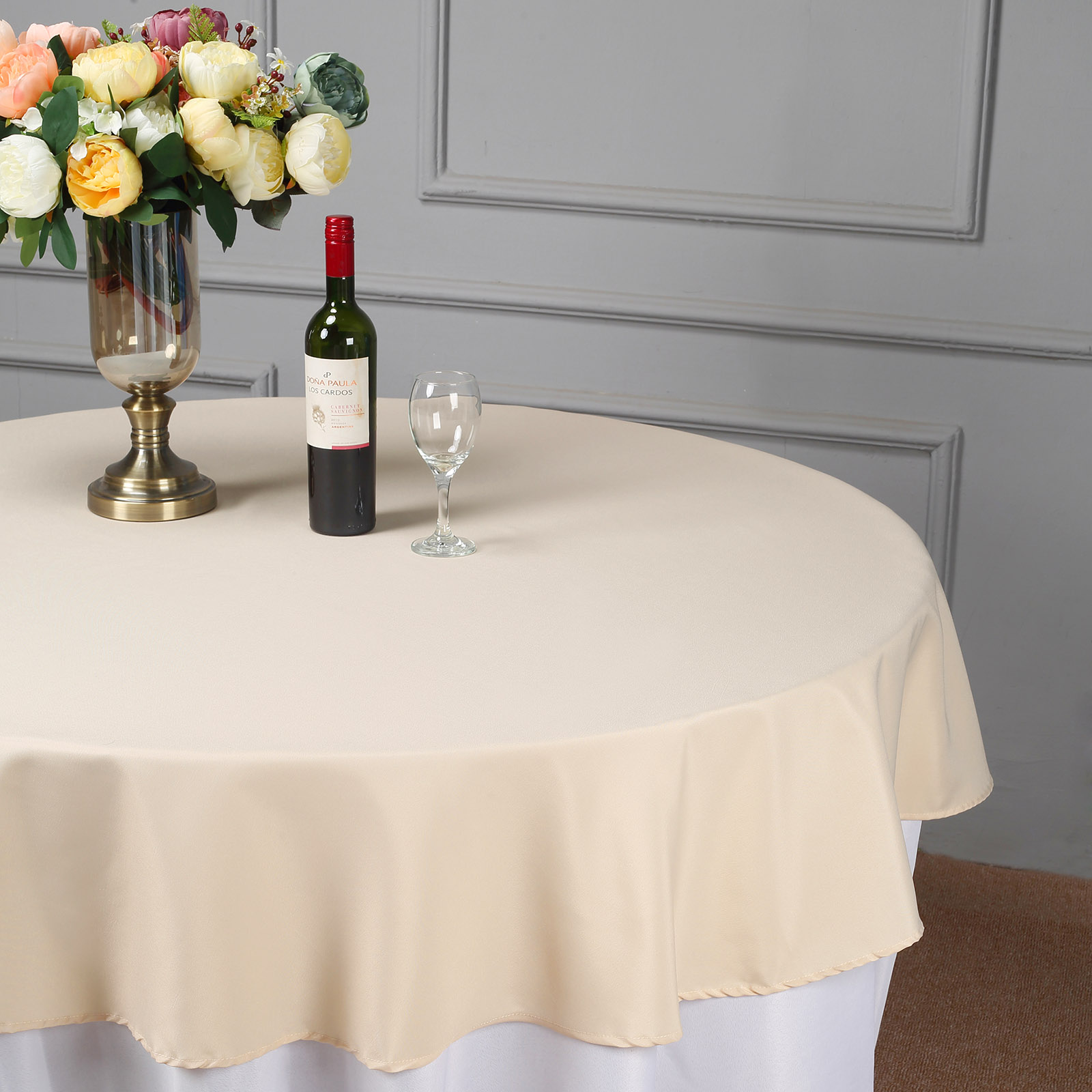 """Wedding Tablecloths: 10 Pcs 70"""" Round Polyester Tablecloths Wedding Table"""
