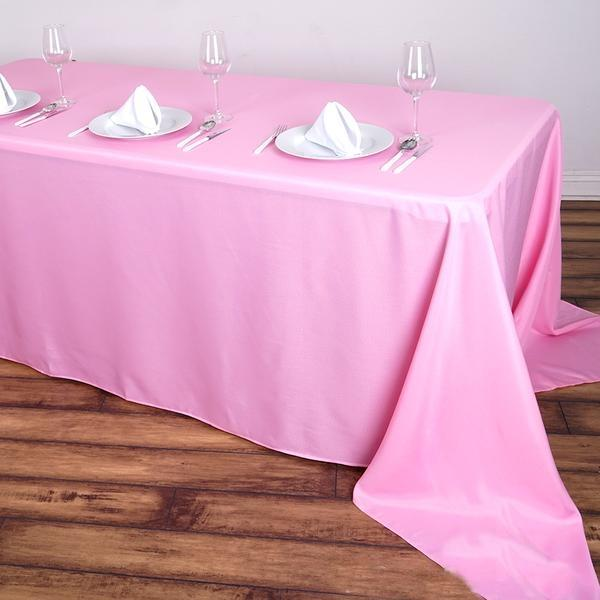 "12 pcs 90x156"" Polyester Tablecloths Wedding Party ..."