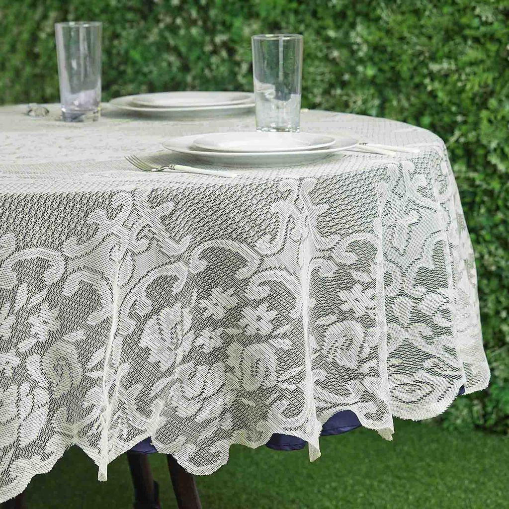 70 Quot Floral Lace Round Tablecloth Wedding Party Table