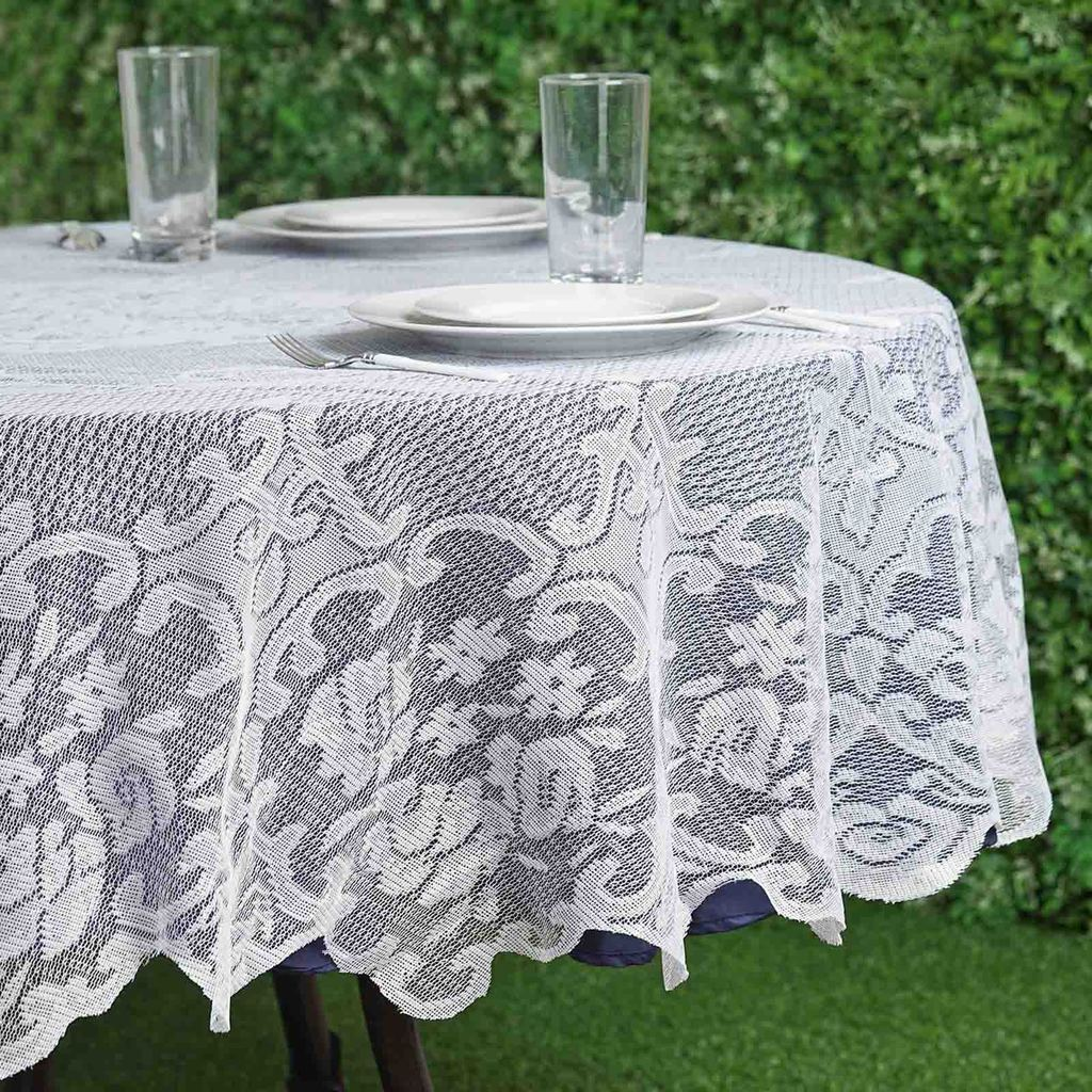 70 Floral Lace Round Tablecloth Wedding Party Table Linens Event