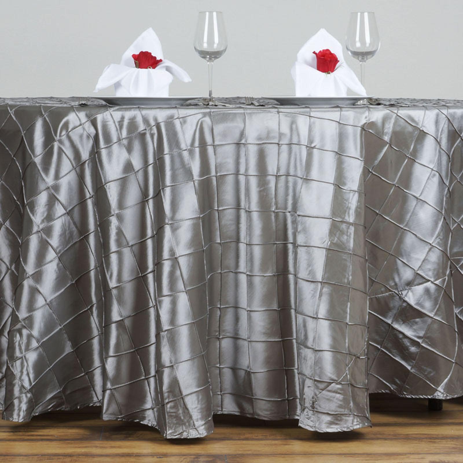 Good 120 034 Pintuck Fancy Round Tablecloths Linens Wedding