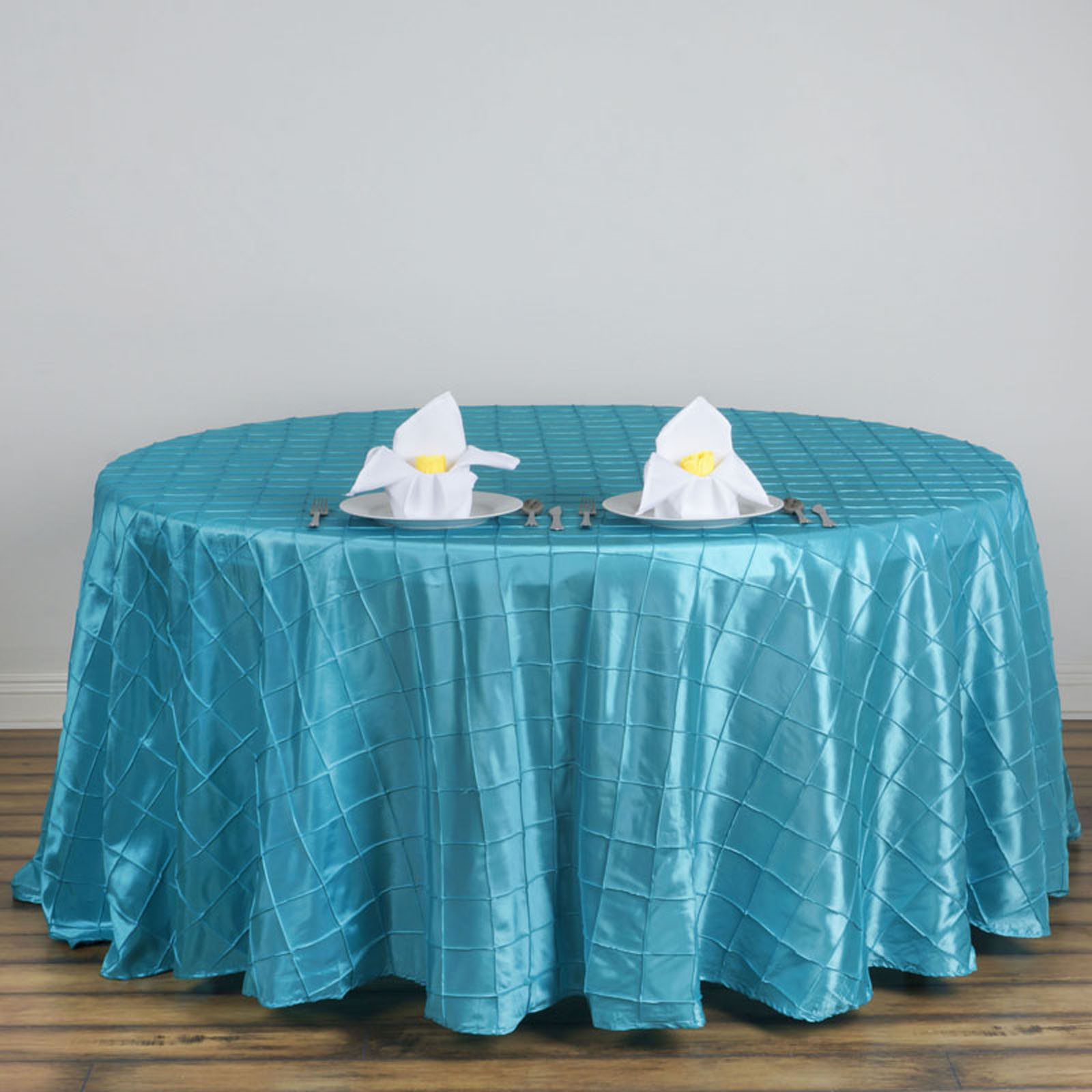 120 034 Pintuck Fancy Round Tablecloths Linens Wedding