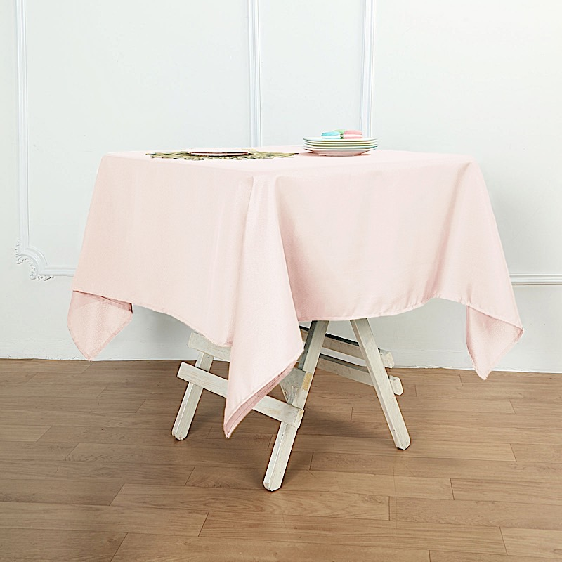 54 x 54 square polyester tablecloth wedding table linens catering home buffet ebay. Black Bedroom Furniture Sets. Home Design Ideas
