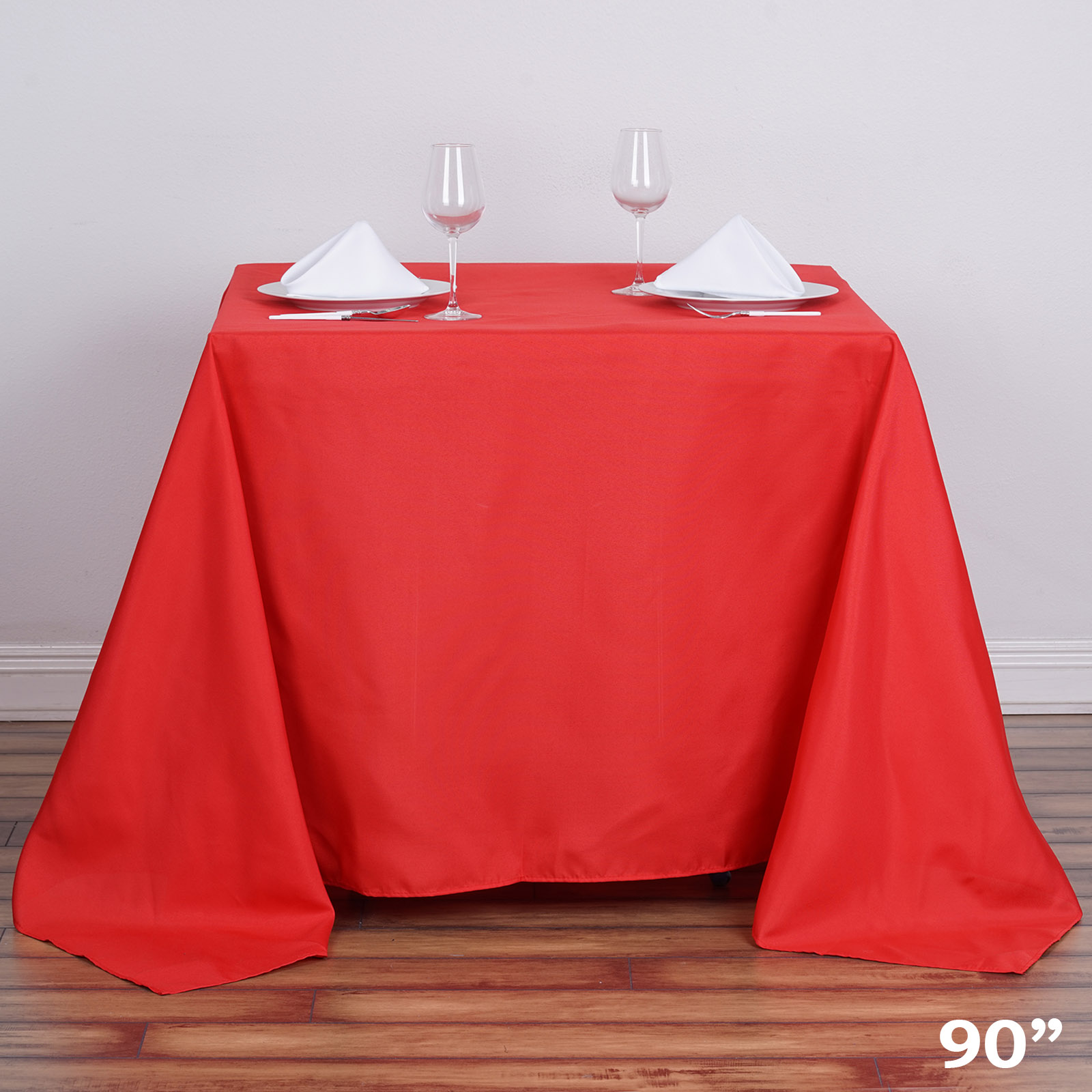 "90x90"" SQUARE POLYESTER Tablecloth Cheap Table Linens Decorations"