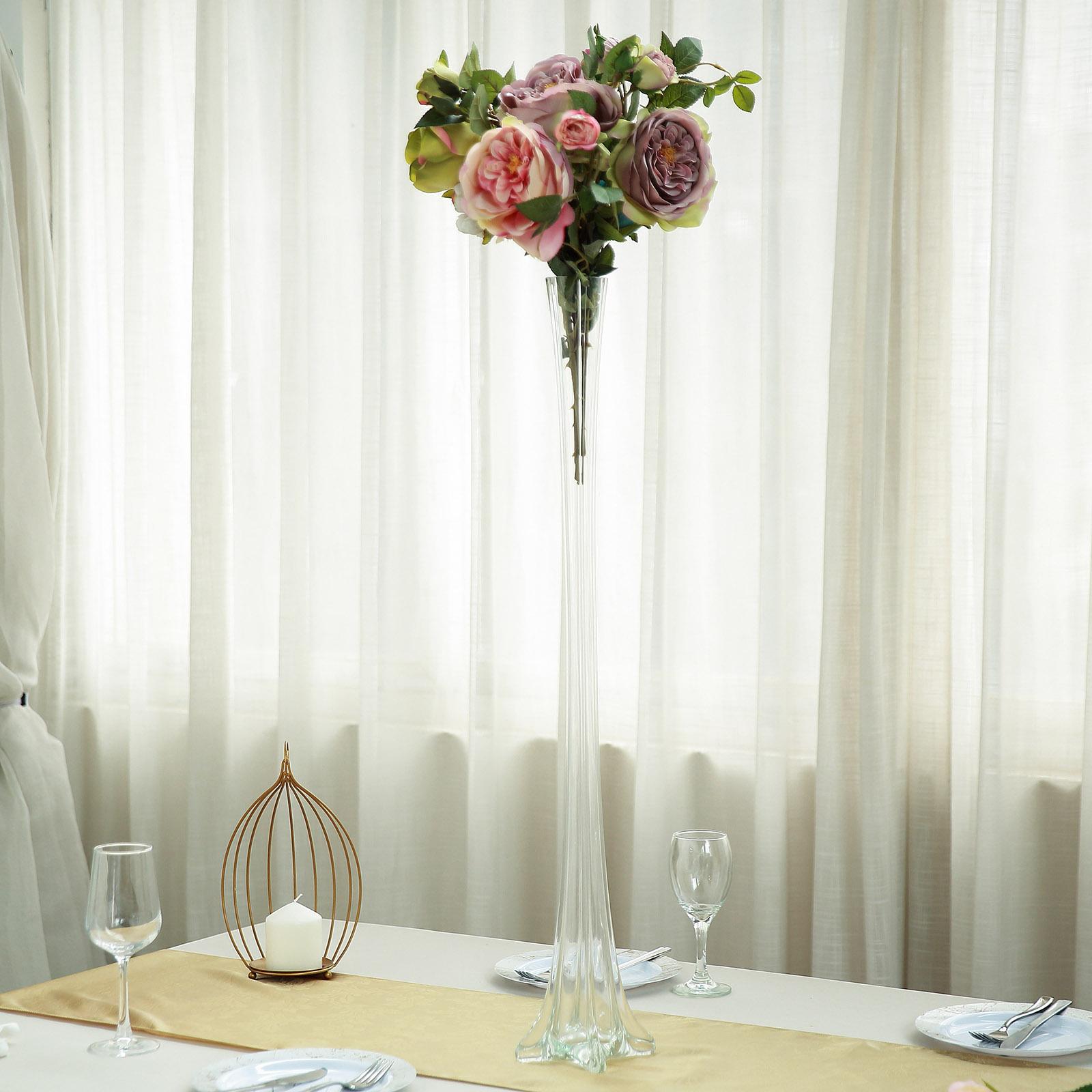 6 Clear 32 Tall Wedding Centerpiece Eiffel Tower Vase Reception