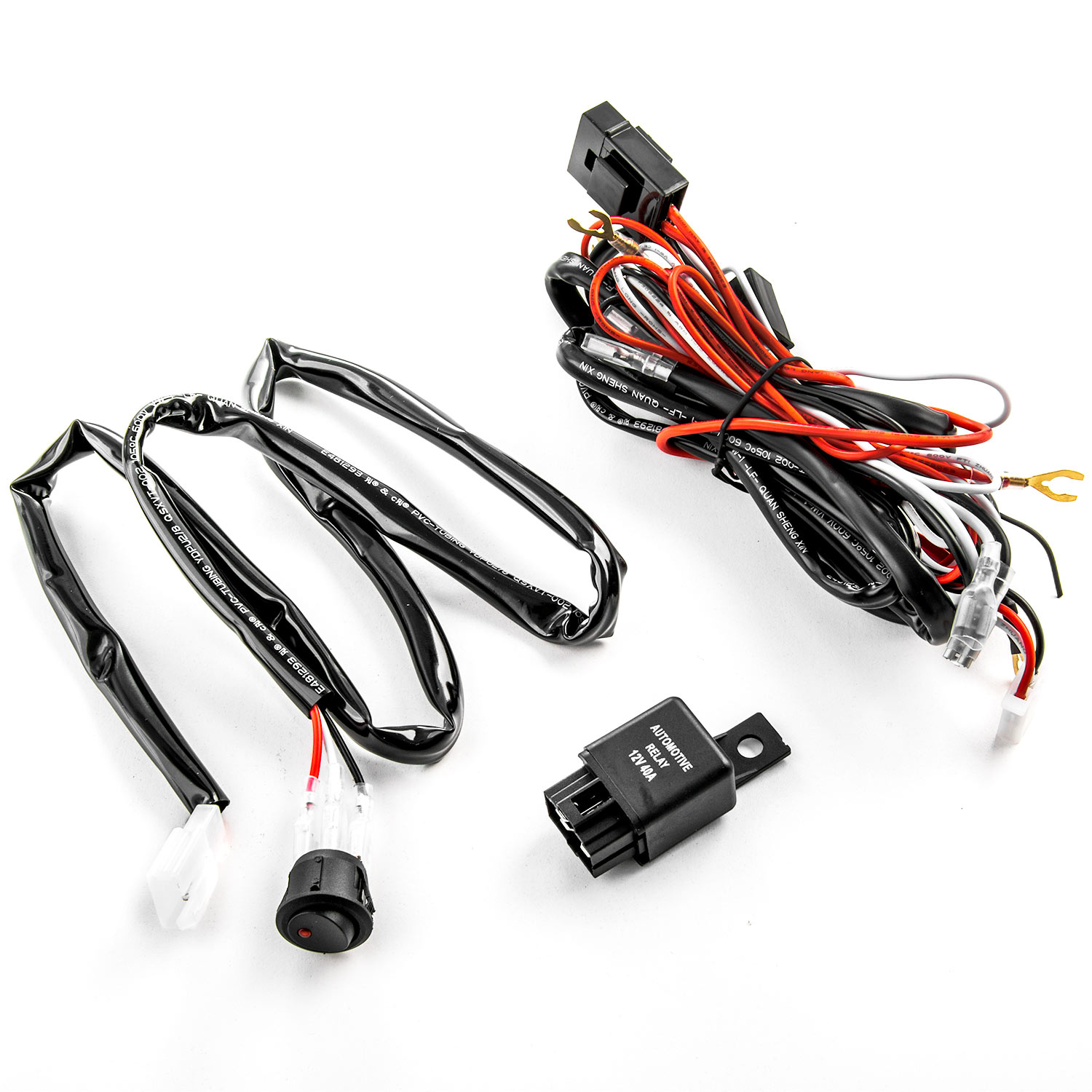 Wiring Kit Fog Light Driving Lamps Harness Fuse Switch Relay Headlight Hid Xenon Conversion Wire Ebay Universal Led Lamp Rh Com