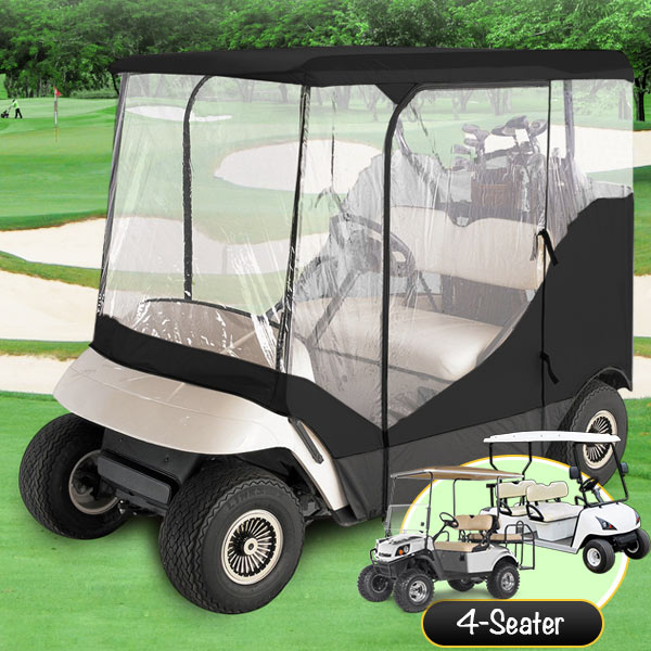 4 Passenger Driving Enclosure Golf Cart Cover Fit EZ Go