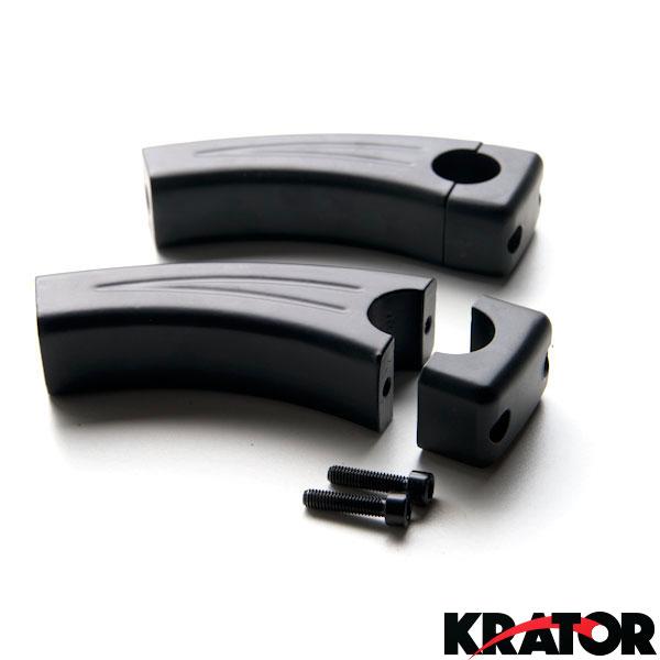 Krator 3.5 Black Motorcycle Handlebar Pullback Risers For Kawasaki Vulcan Classic Custom 900