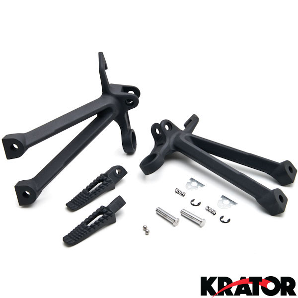 Rear Pedals Footrest Foot Pegs Bracket Set Fit For Suzuki GSXR1000 2007-2008 New