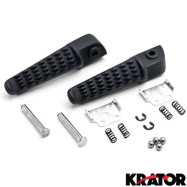 Black Front Foot Pegs Footrest Fit For Kawasaki Zx6R Zx9R Zx10R Zx-6R Zx