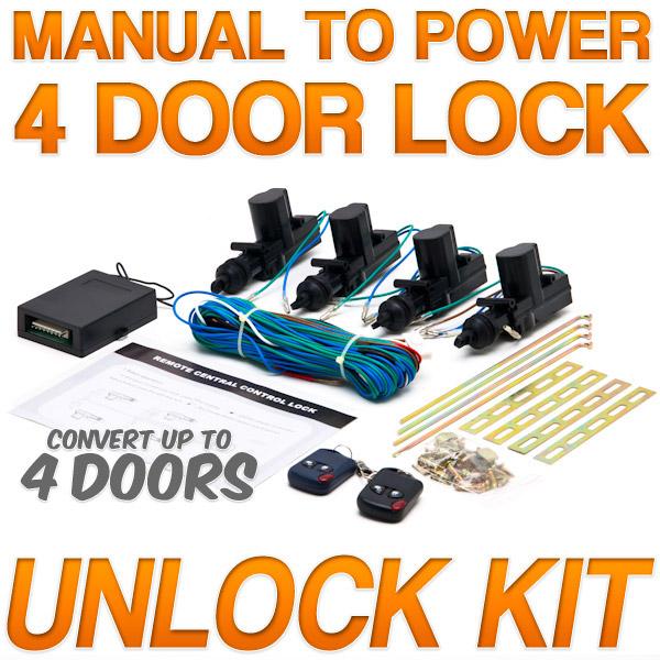 Keyless Entry System Manual Door Lock Conversion Car Remote Control