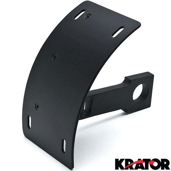 Curved Swingarm License Plate Tag Relocator Black