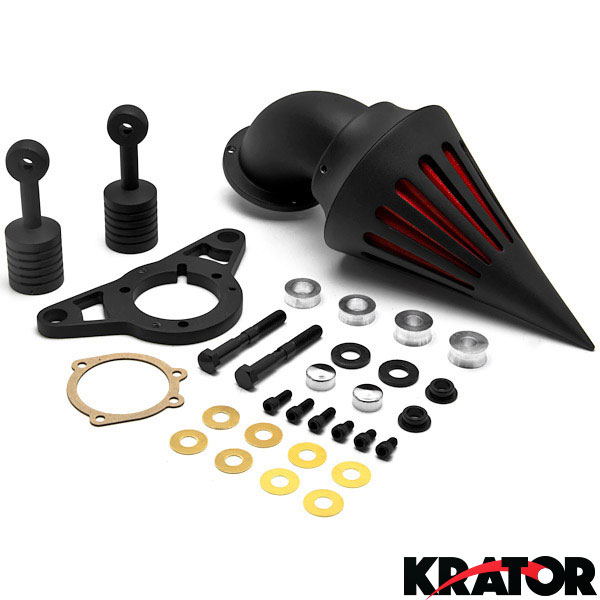 Harley Davidson Black Spike Intake Air Cleaner Filter Kit
