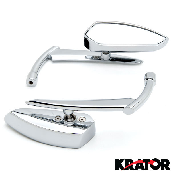 "MOTORCYCLE CUSTOM STYLE CHROME MIRRORS 10MM /"" KNIGHT /"" SUITABLE FOR CHOPPERS"