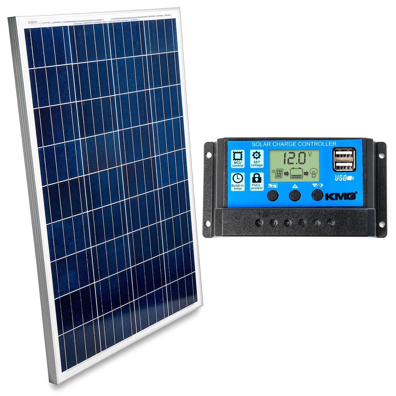100w Solar Panel Charge Controller 12v Polycrystalline Module Marine Off Grid Ebay