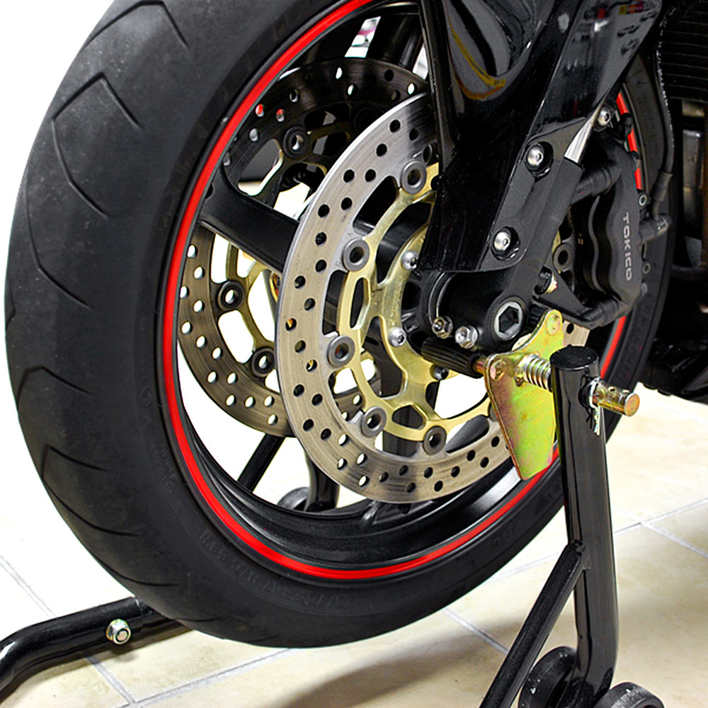 MOTORCYCLE-Sport-BIKE-SWINGARM-SPOOL-FORK-FRONT-amp-REAR-DUAL-LIFT-STANDS-COMBO